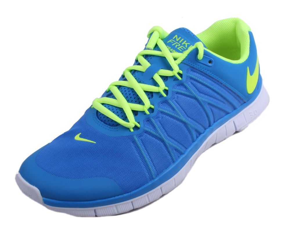 Nike Free Trainer 3.0 Blue/Volt-White Mens Running Training Shoes 630856 402
