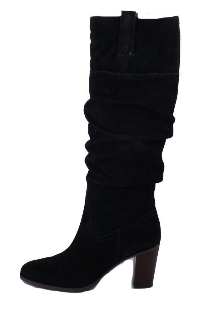 tommy hilfiger trinety womens black suede high heel boots. Black Bedroom Furniture Sets. Home Design Ideas