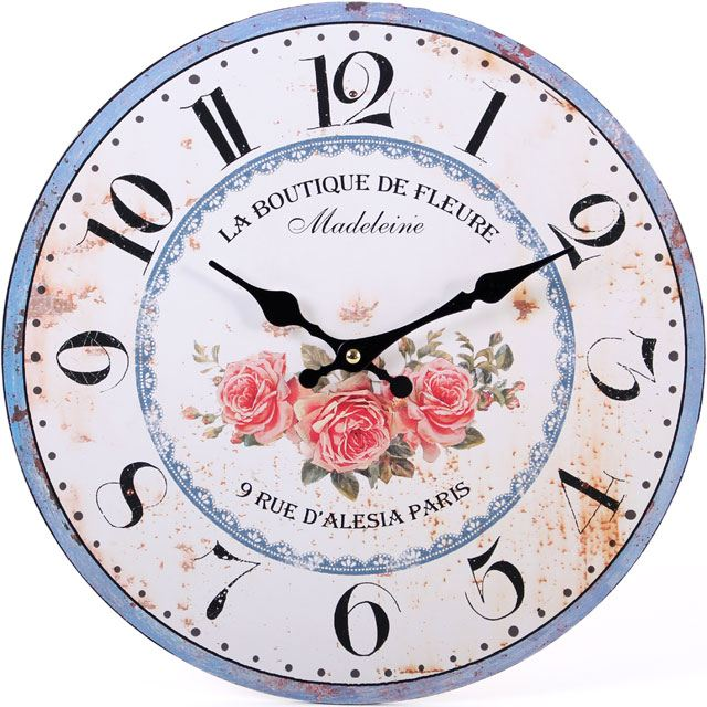Large-Vintage-Rustic-Wall-Clocks-Shabby-Kitchen-Chic-Home-French-Farmhouse-Beach