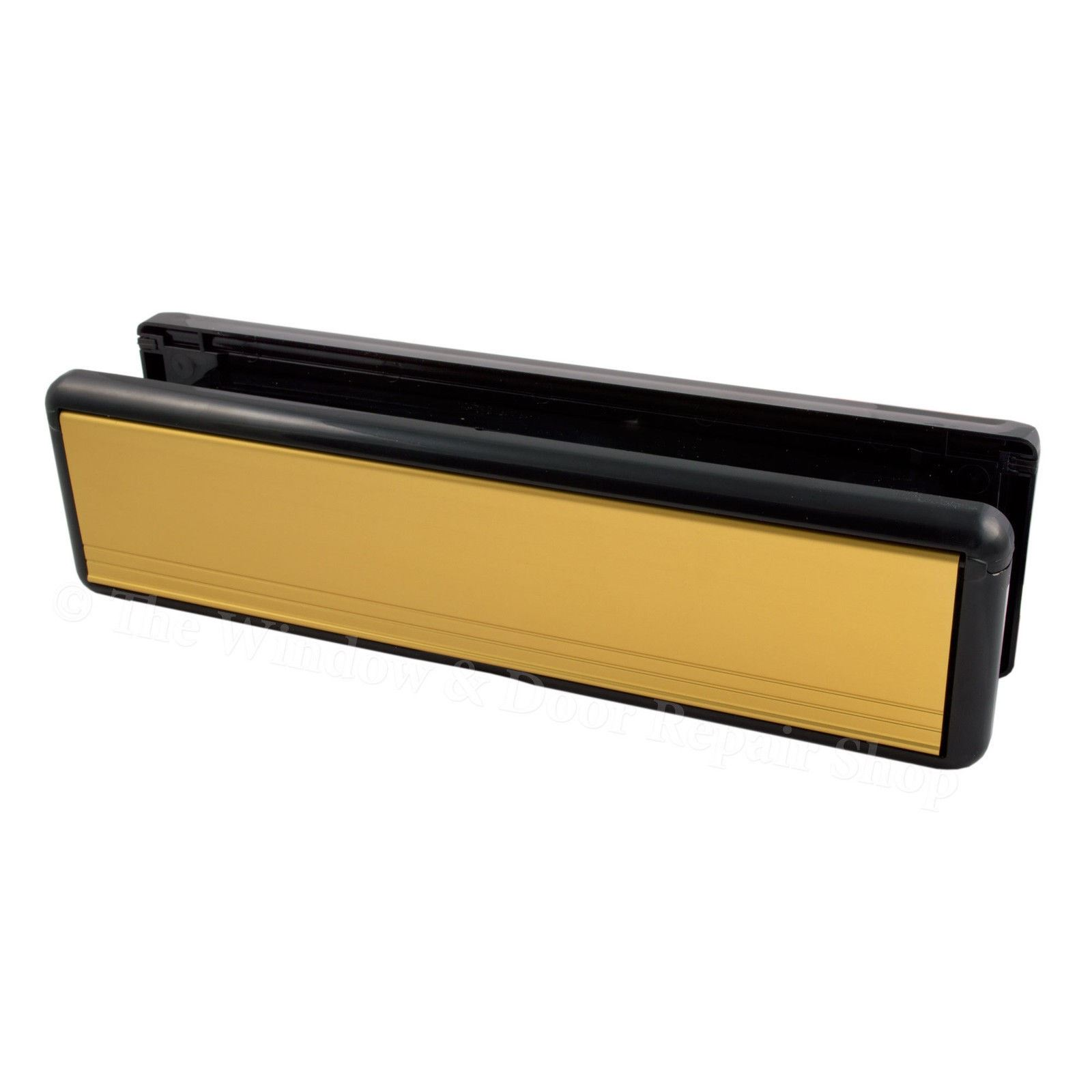 10 inch welseal letter box letter plate set upvc double for Upvc french doors with letterbox