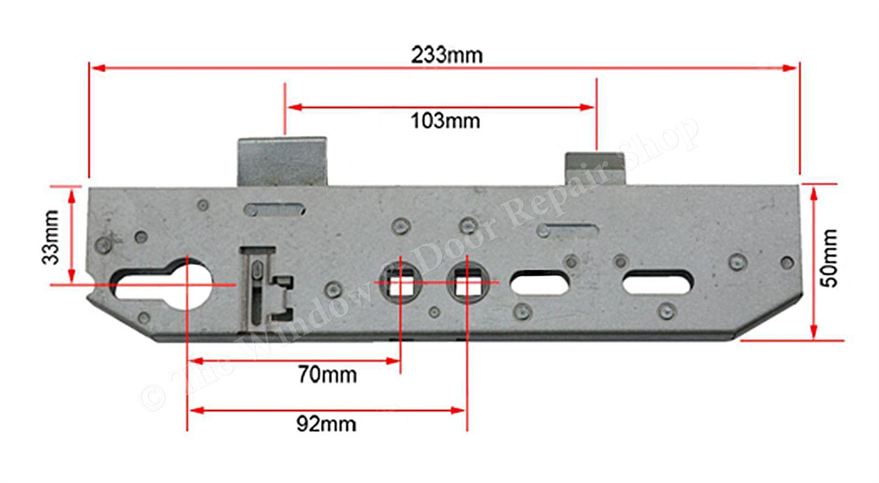 Multipoint Door Lock Gearbox Only Mila Coldseal Twin