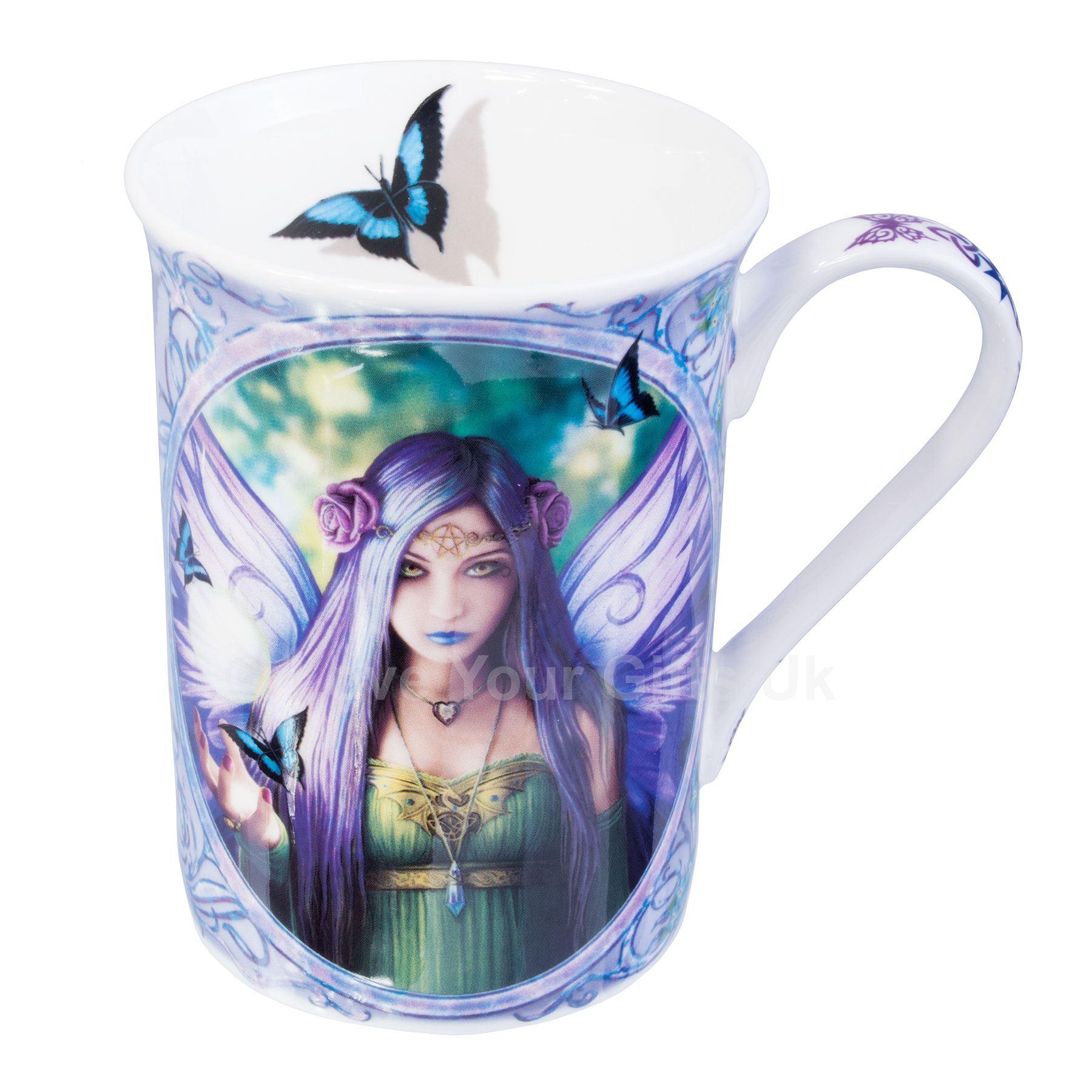 Anne Stokes Ceramic Mug 10 5 Cm High Wolf Fairy Unicorn