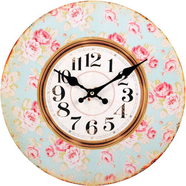 Large Vintage Rustic Wall Clocks Shabby Kitchen Chic Home