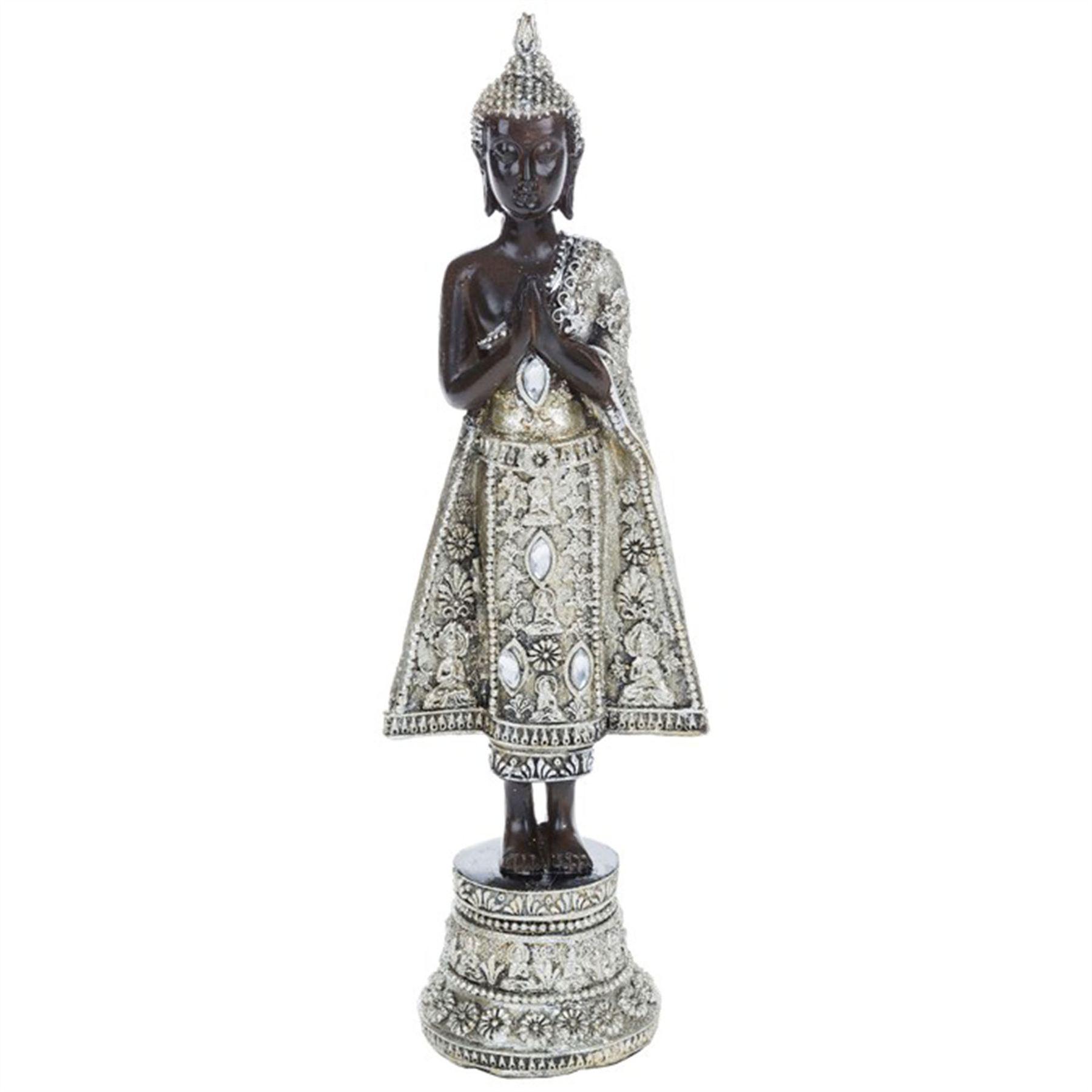 Thai buddha statues sitting kneeling standing feng shui silver thai buddha statues sitting kneeling standing feng shui buycottarizona