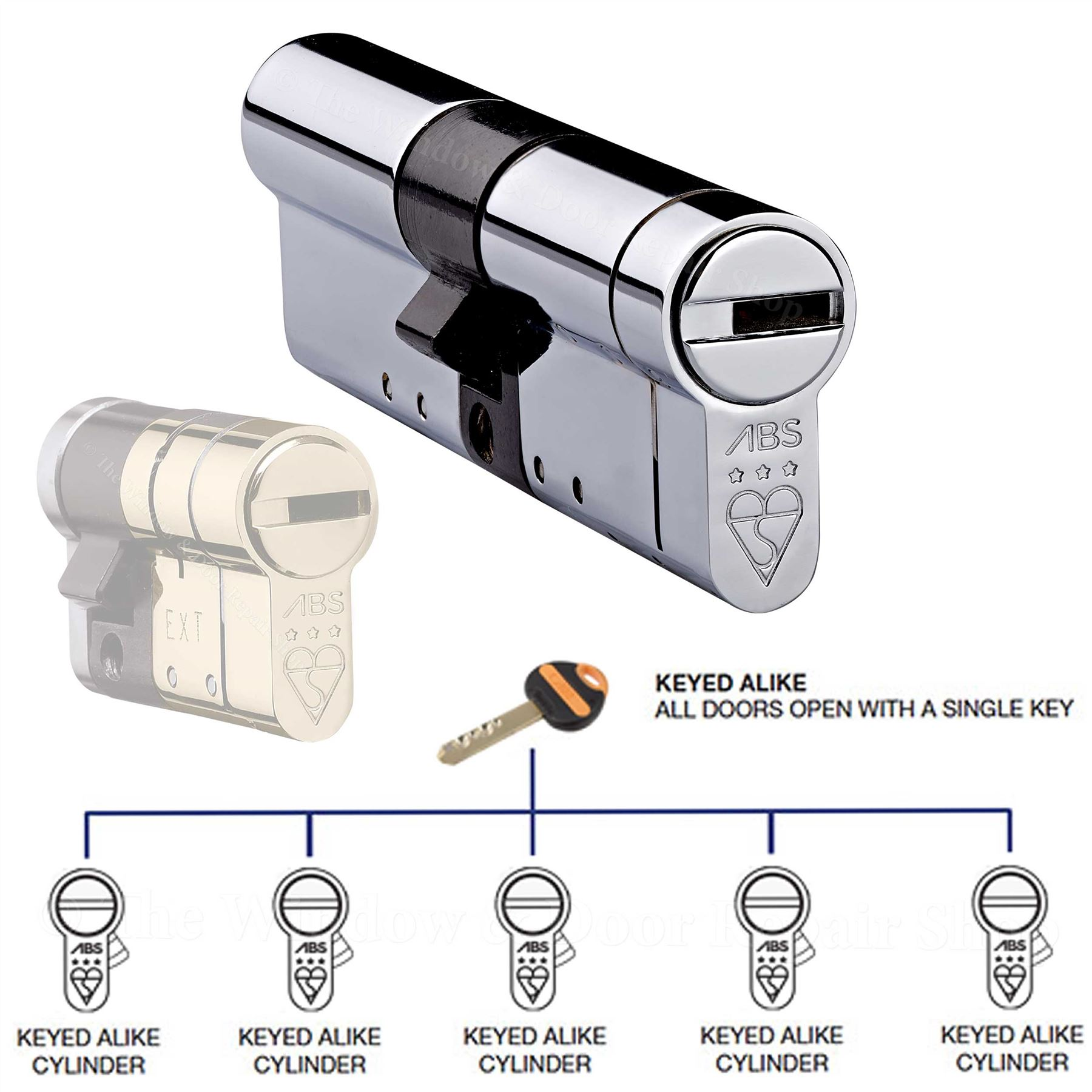 Avocet abs keyed alike euro cylinder upvc door lock anti for 007 door locks