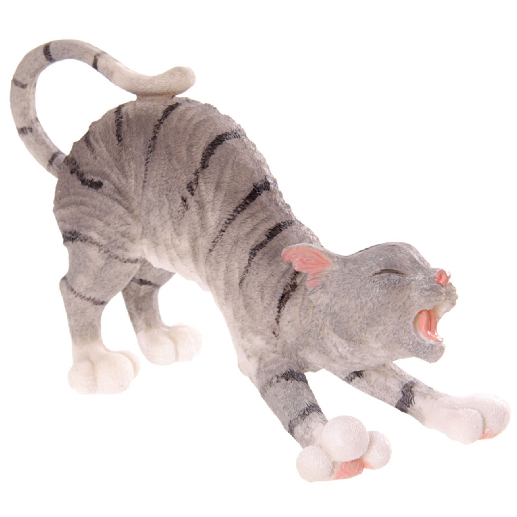 Tabby cat ornament - Cat Figurine Ornament Tabby Stretching Or Ginger Playing With Mouse Cats Figures Ebay