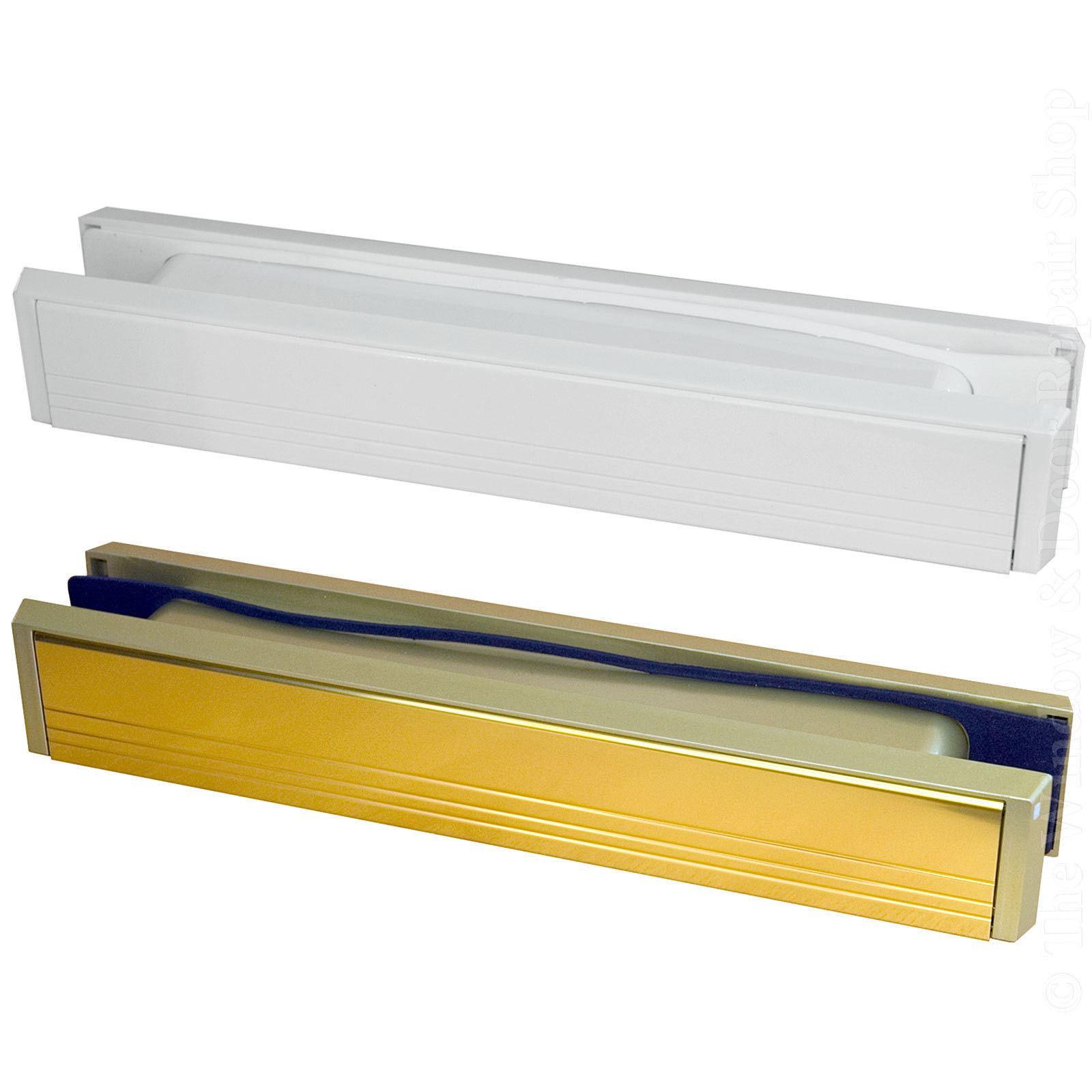 12 Quot Inch Slimline Letter Box Letter Plate Set Slim Upvc