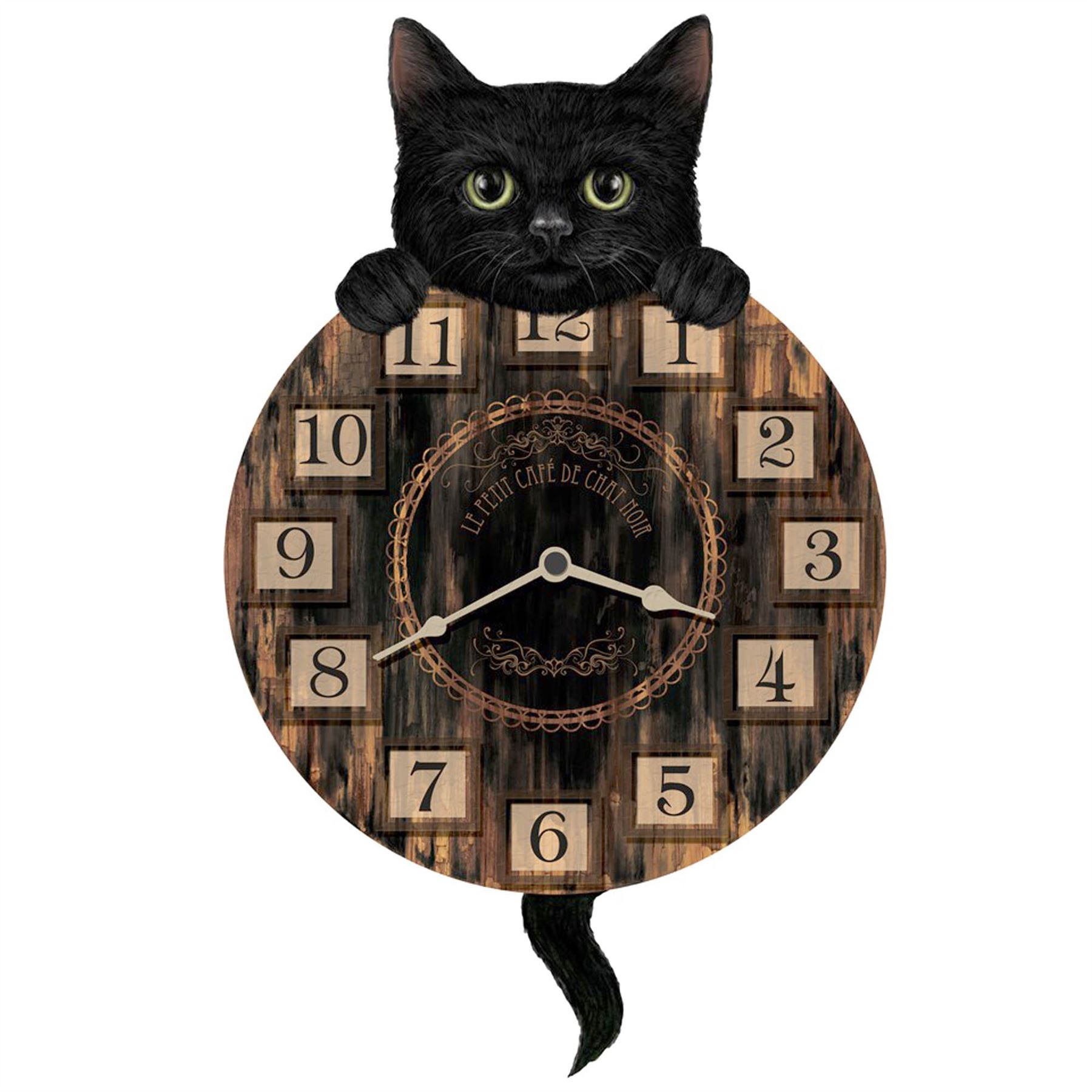 Tickin animal shaped picture wall clock swinging tail pendulum tickin 039 animal shaped picture wall clock swinging amipublicfo Gallery