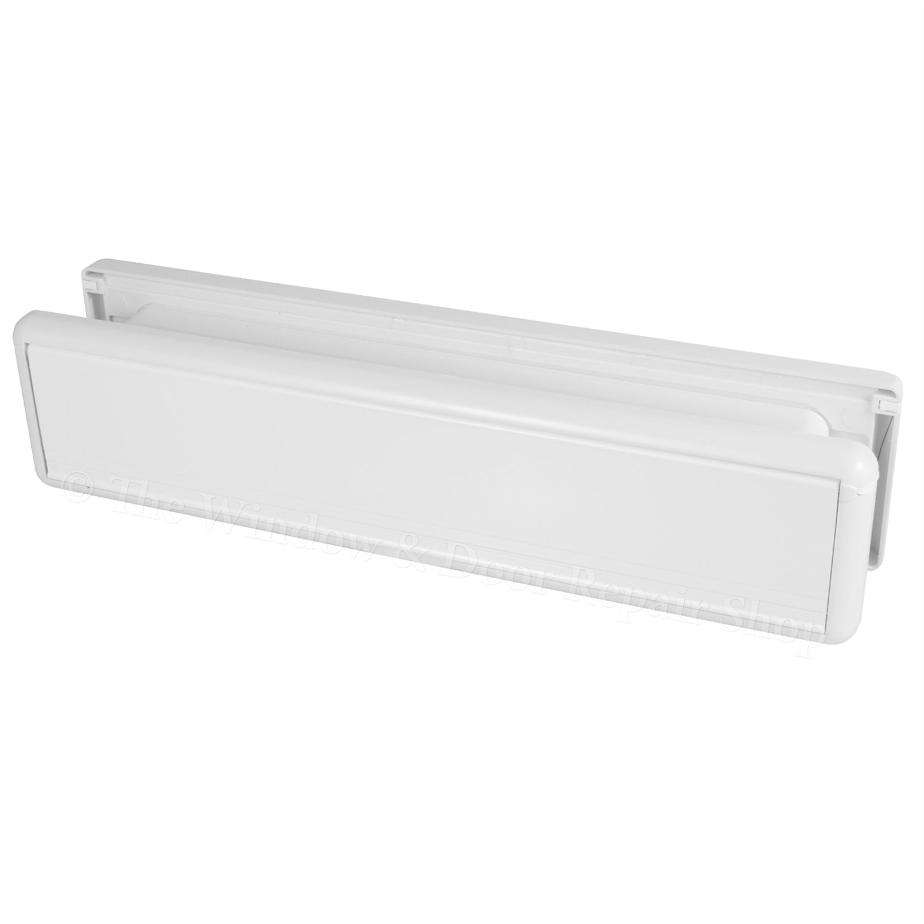 12 inch letter box plate white 40 80 upvc double glazing for Upvc french doors with letterbox