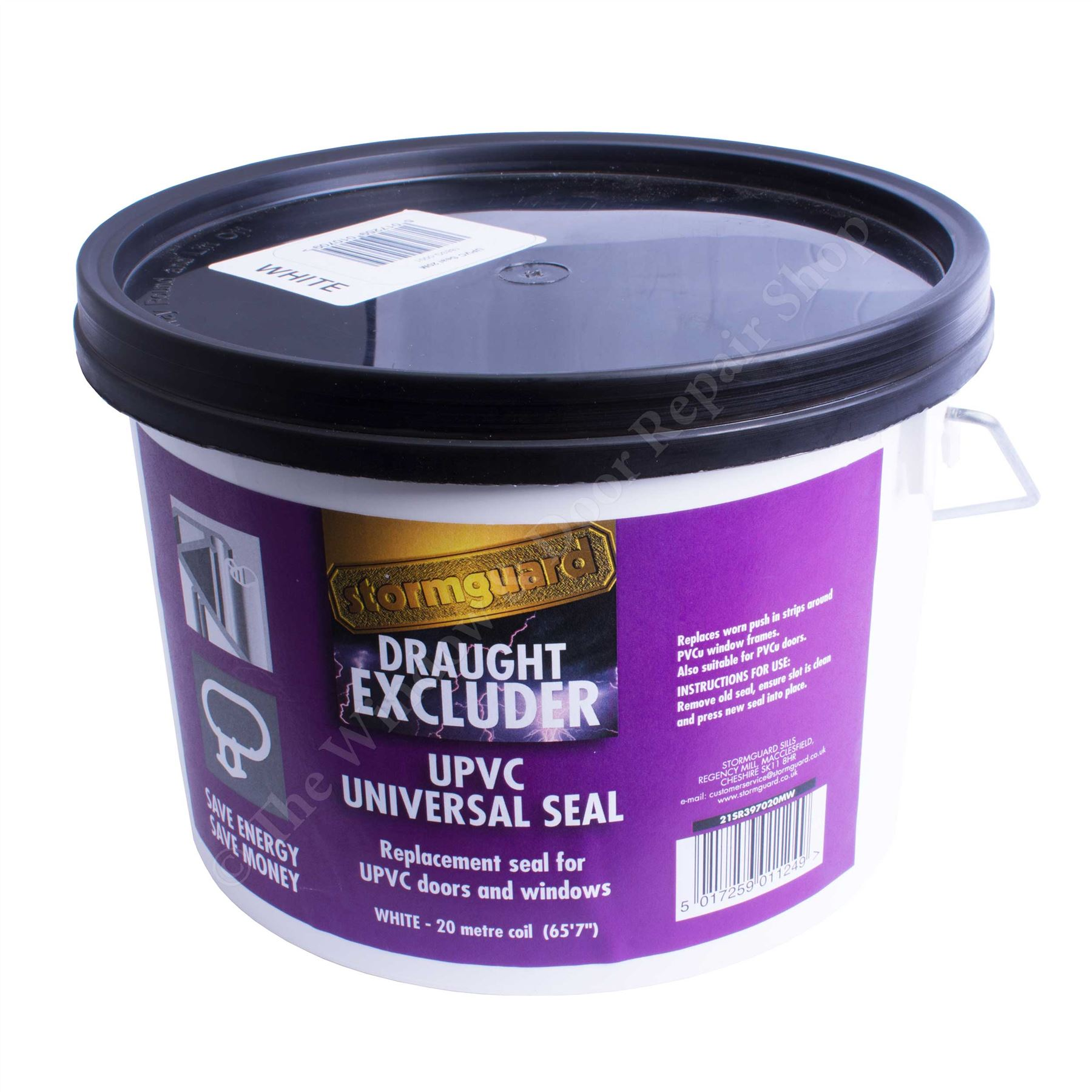 Awesome White Stormguard Replacement 20m Gasket UPVC Window Door Seal Draught  Excluder