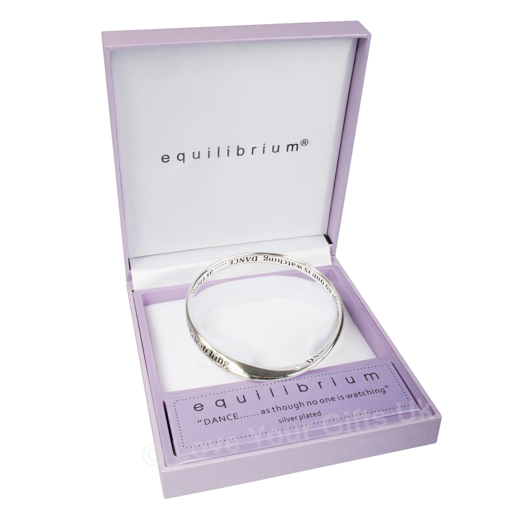 Equilibrium Silver Plated Bangle - Dance As Though No One Is Watching UHWb6N3b