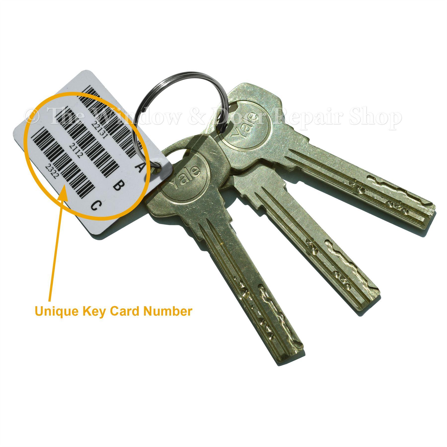 Extra Security Keys Cut Yale Superior Euro Cylinder Barrel ...