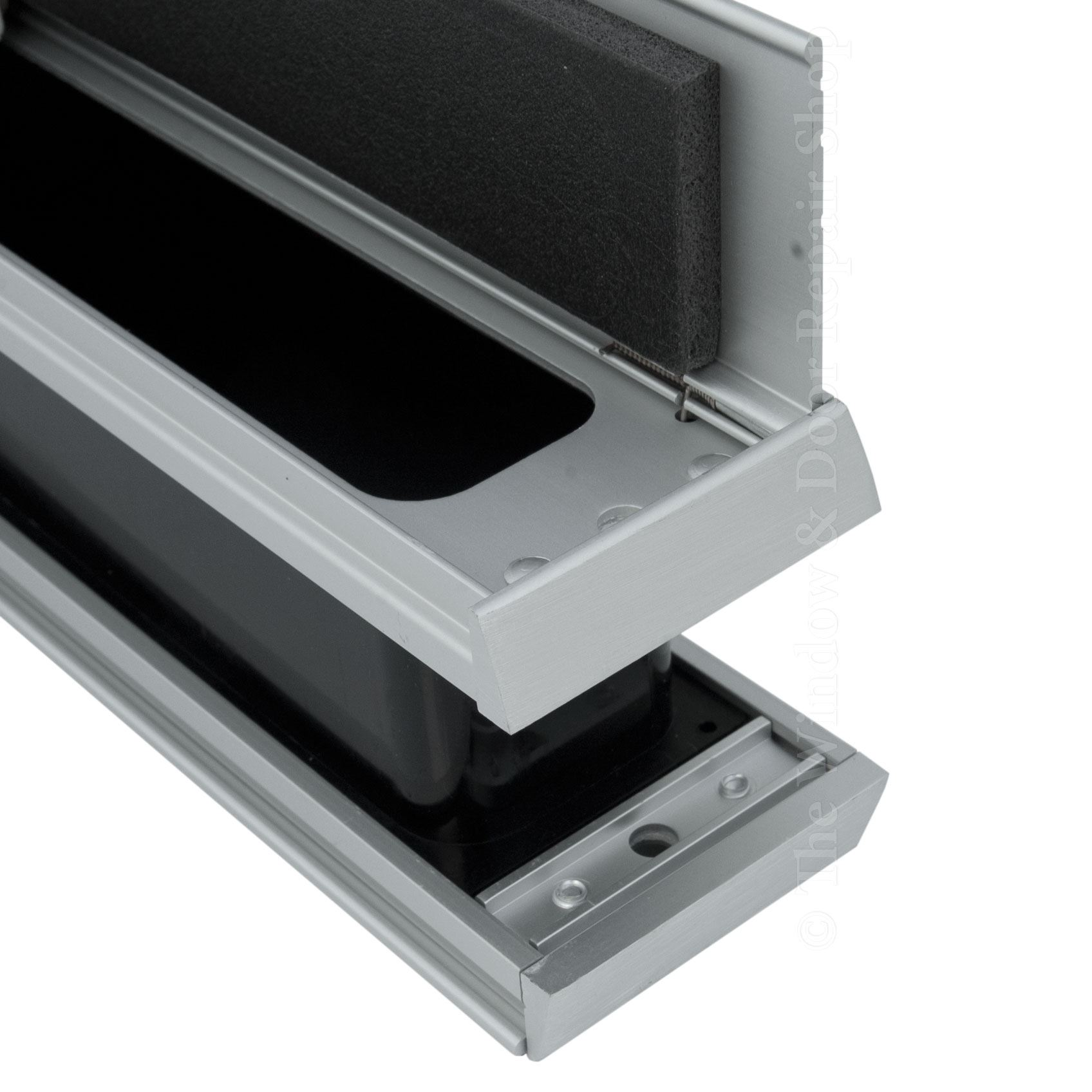 12 Slimline Letterbox Metal Letter Plate Set Upvc Timber