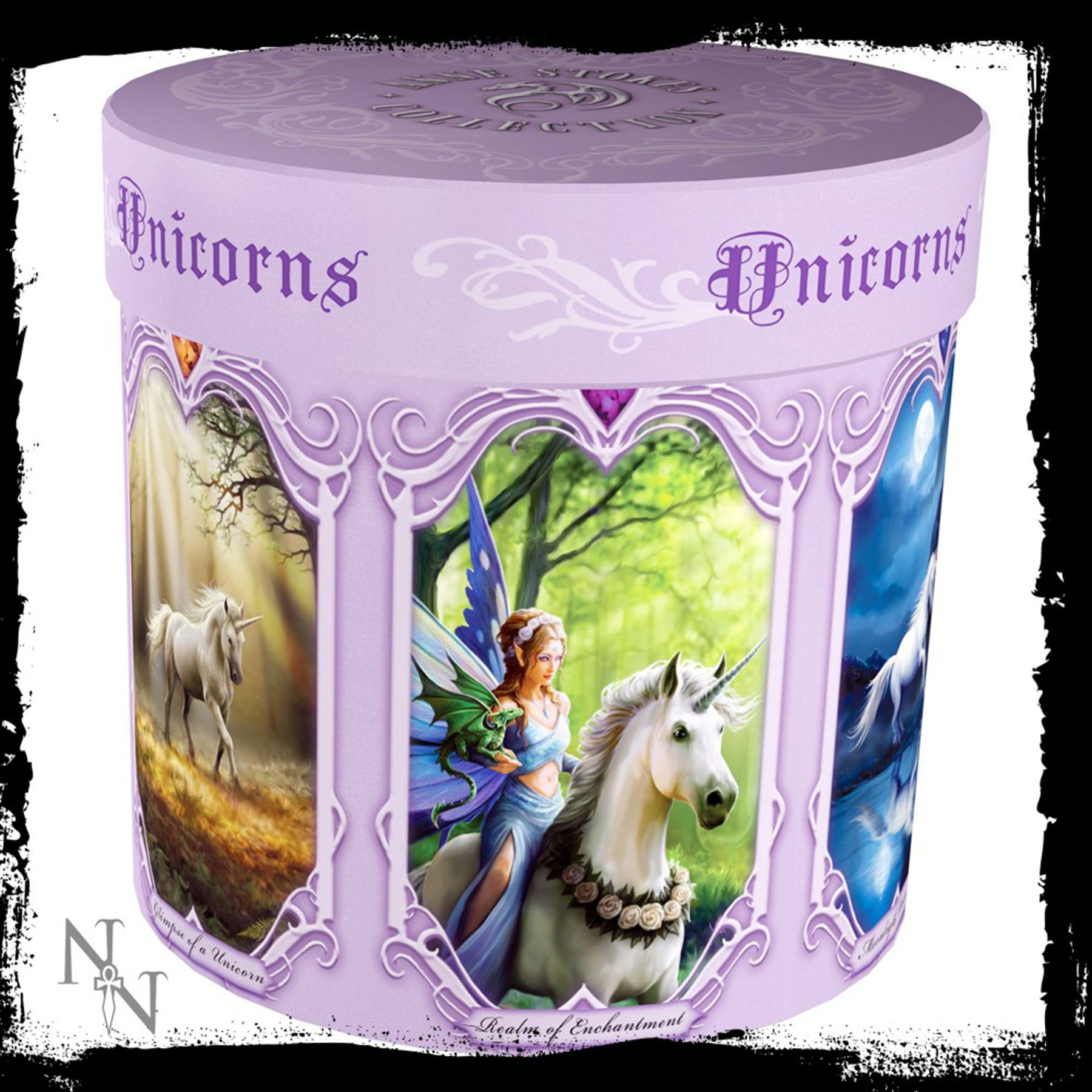 Anne Stokes Ceramic Mug 10 5 Cm High Wolf Fairy Unicorn