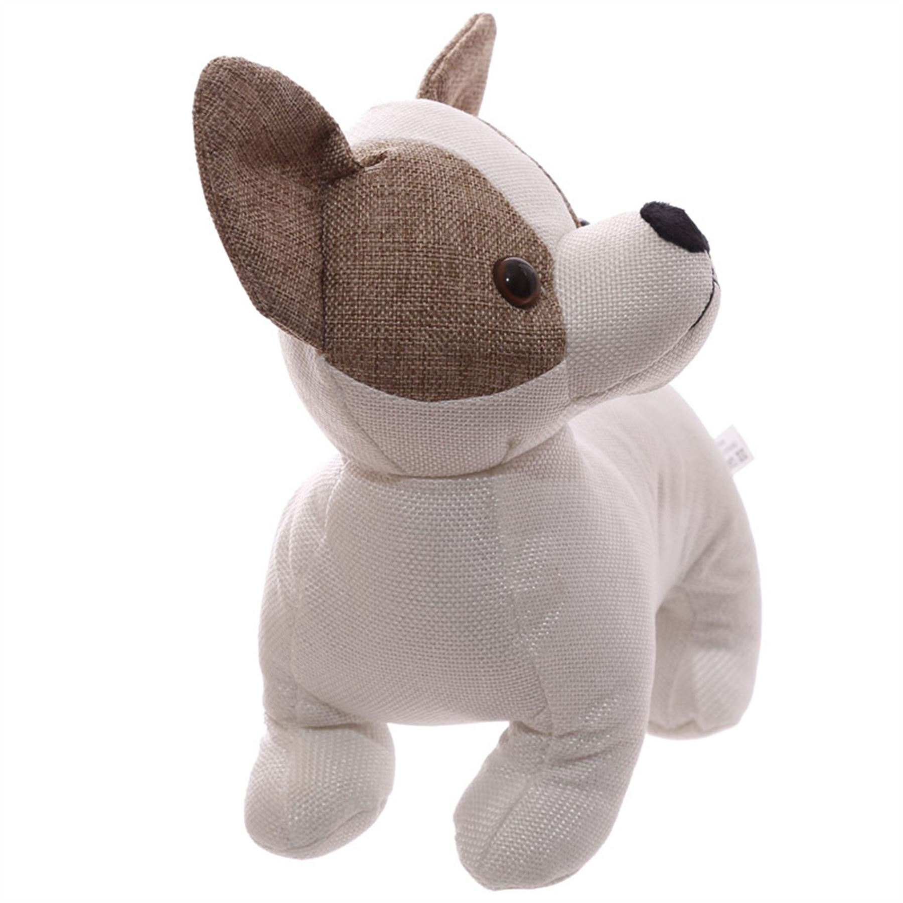 Chihuahua Shaped Fabric Dog Door Stop 22cm High Door Stopper Free