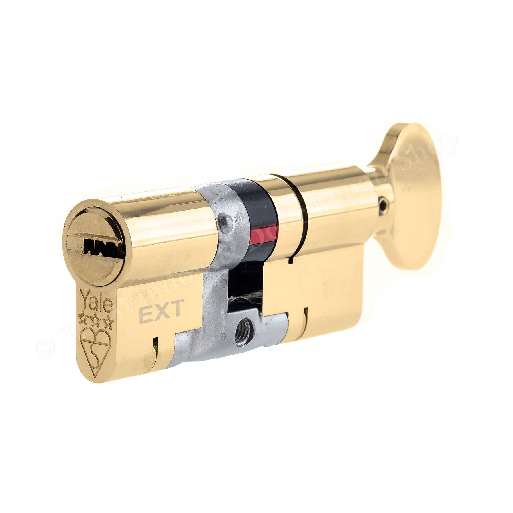 Yale Platinum Thumb Turn Cylinder Lock Anti Snap Upvc Door