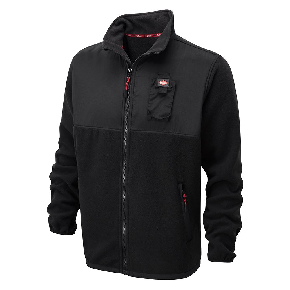 fded41bd New Lee Cooper Workwear Mens Black Fleeced Zip Up Durable Work Jacket Size  M-2XL