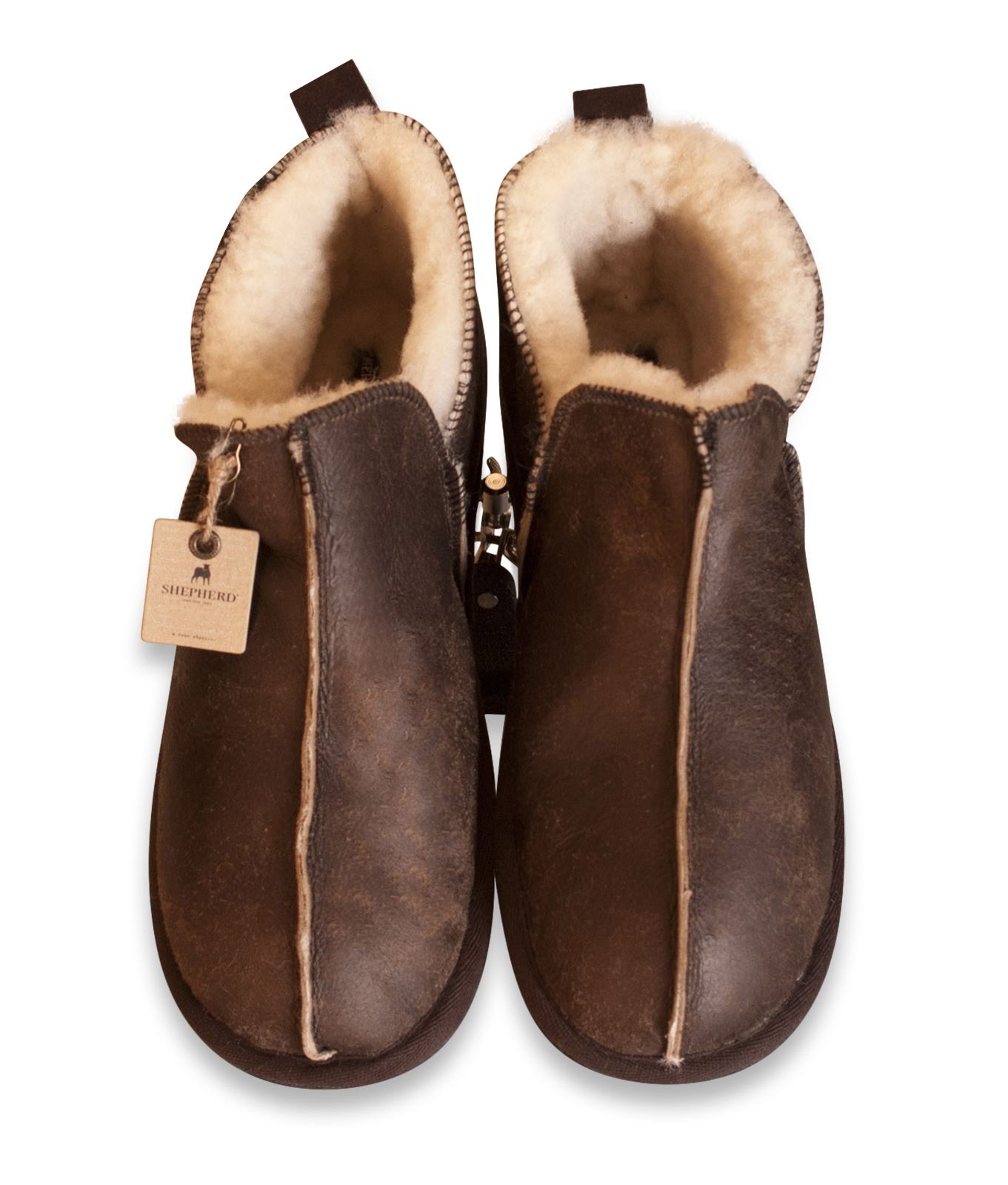 Mens Shearling Lined Shoes