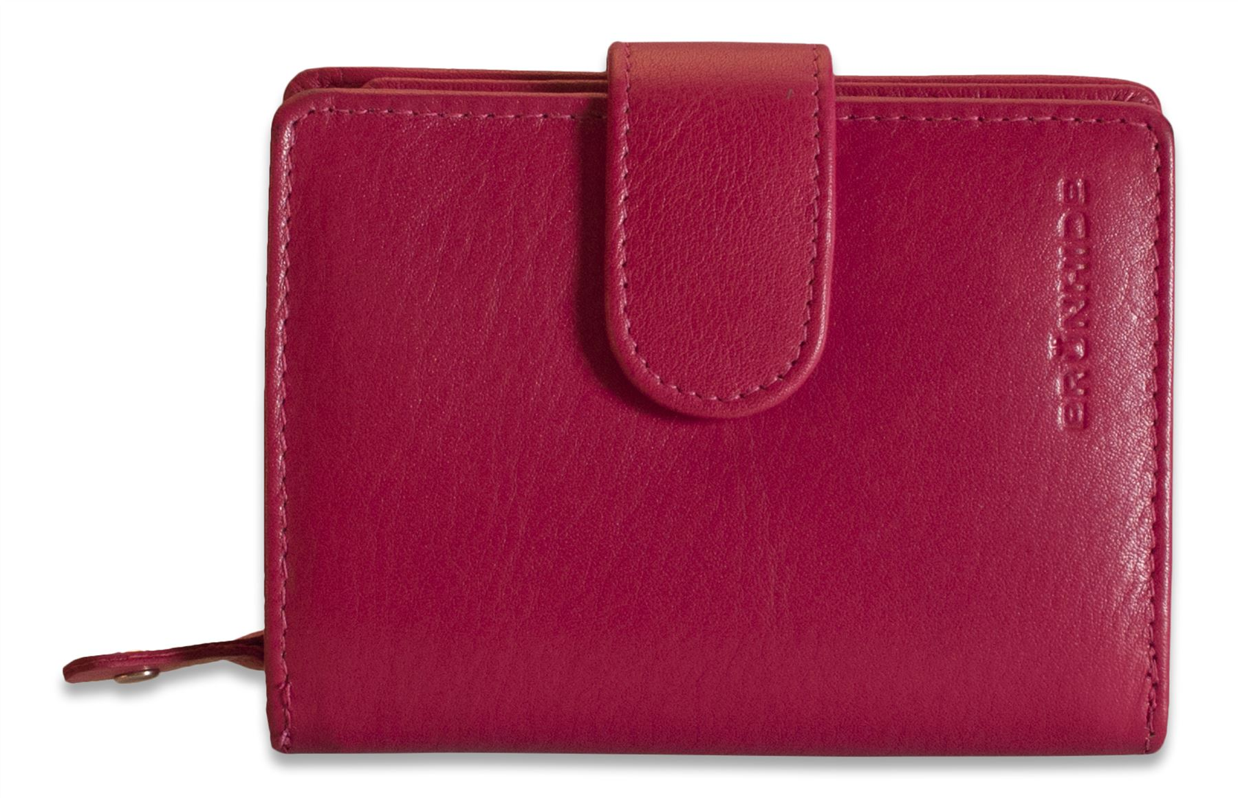 Brunhide Real Leather Womens Trifold Zip Purse Wallet ...