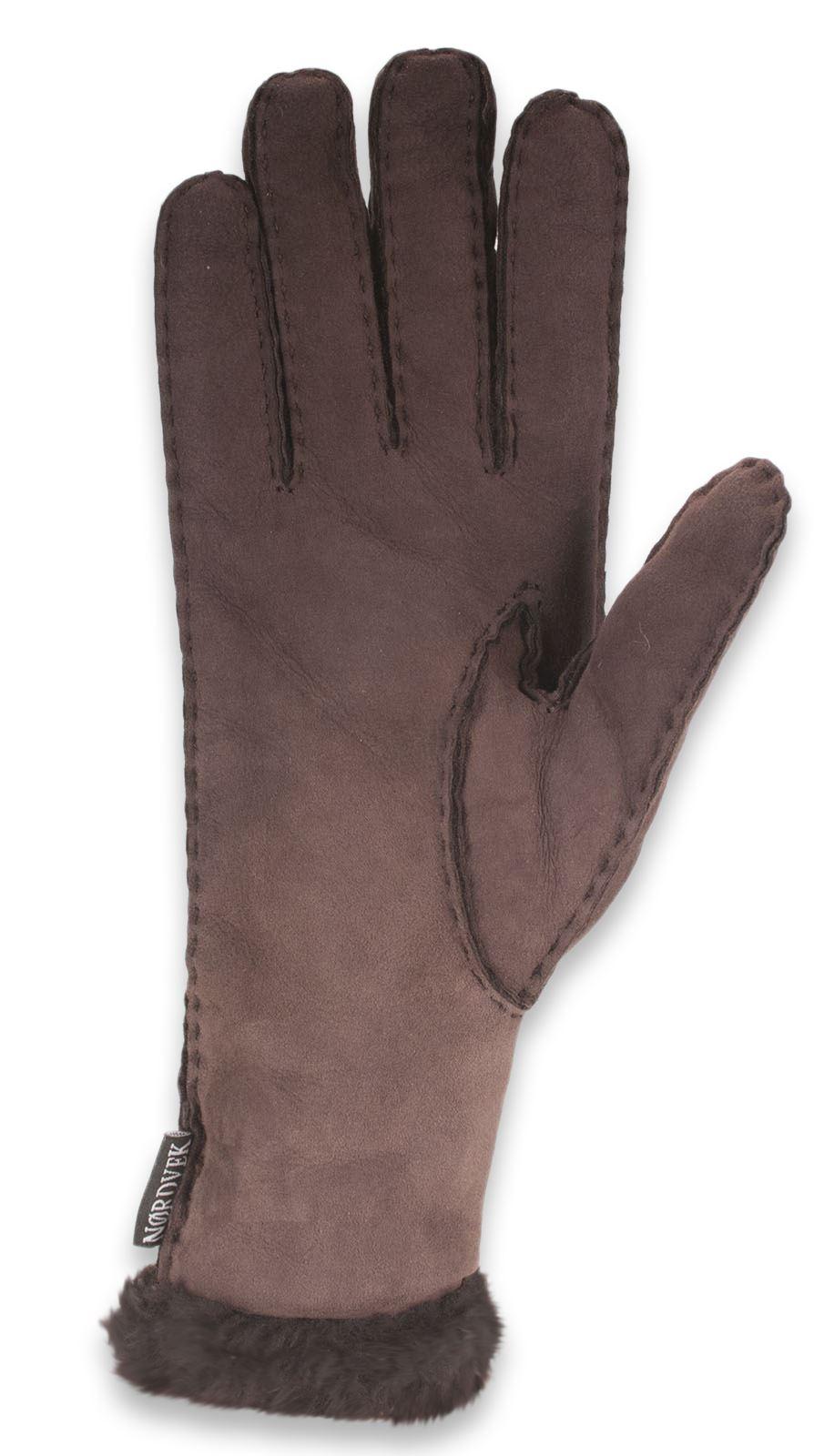 nordvek damen lange echte lammfell handschuhe mit spitzen. Black Bedroom Furniture Sets. Home Design Ideas