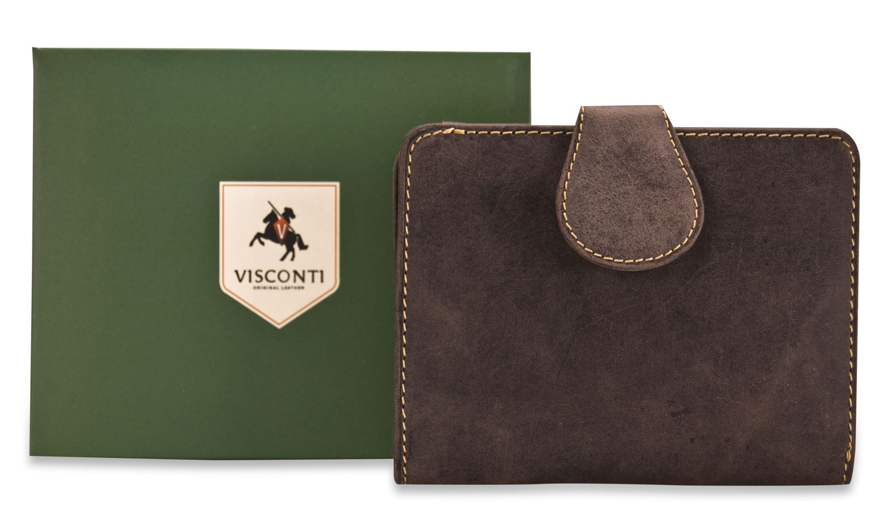 Visconti-Ladies-Large-Distressed-Genuine-Leather-Wallet-Purse-Real-Boxed-BOW-715