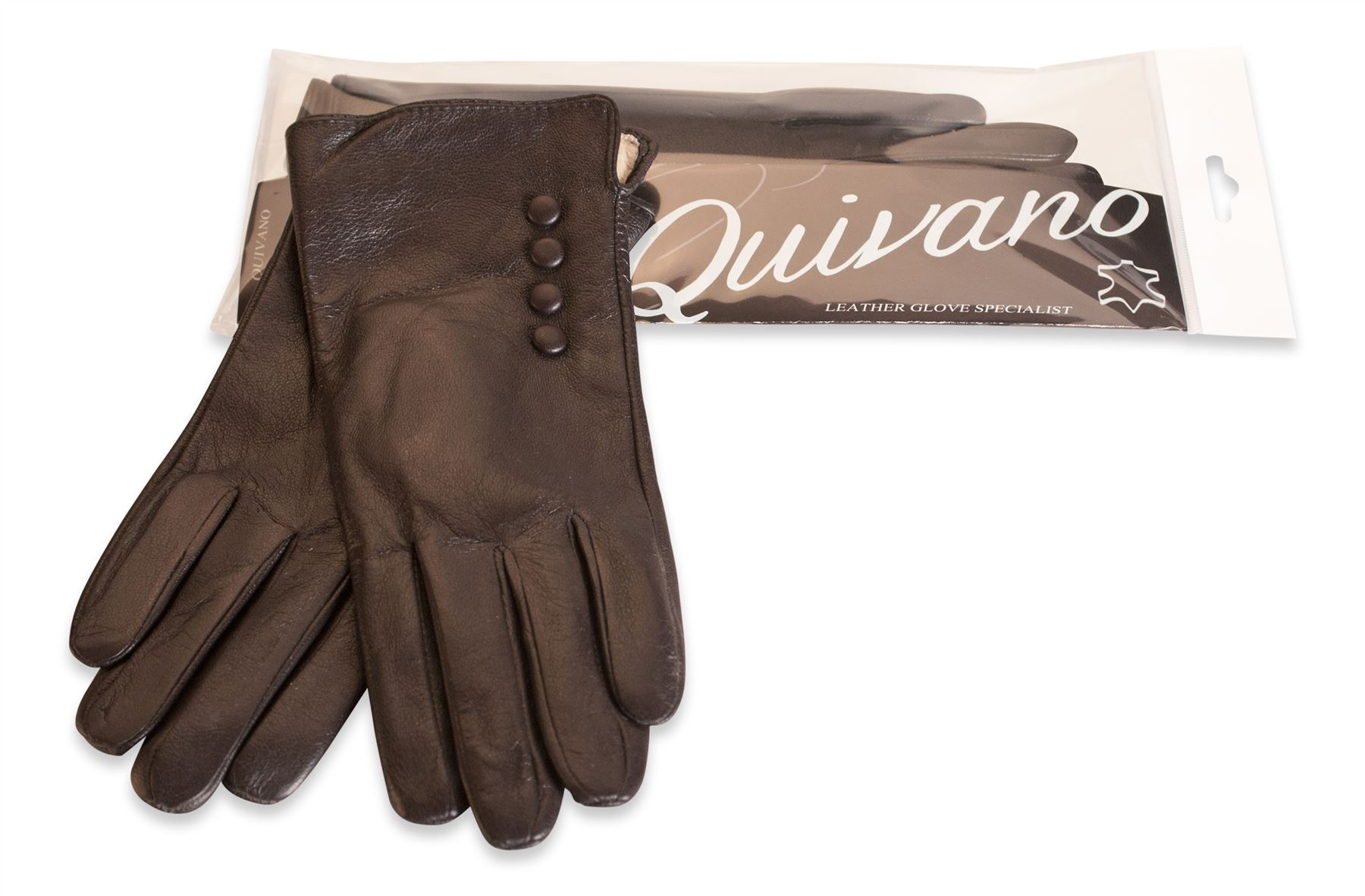 Ladies real leather gloves - Quivano Womens Soft Real Leather Gloves Four Button