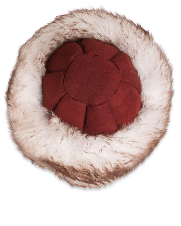 Nordvek-Donna-vera-pelle-di-pecora-cappello-stile-russo-cosacco-Womens-genuino