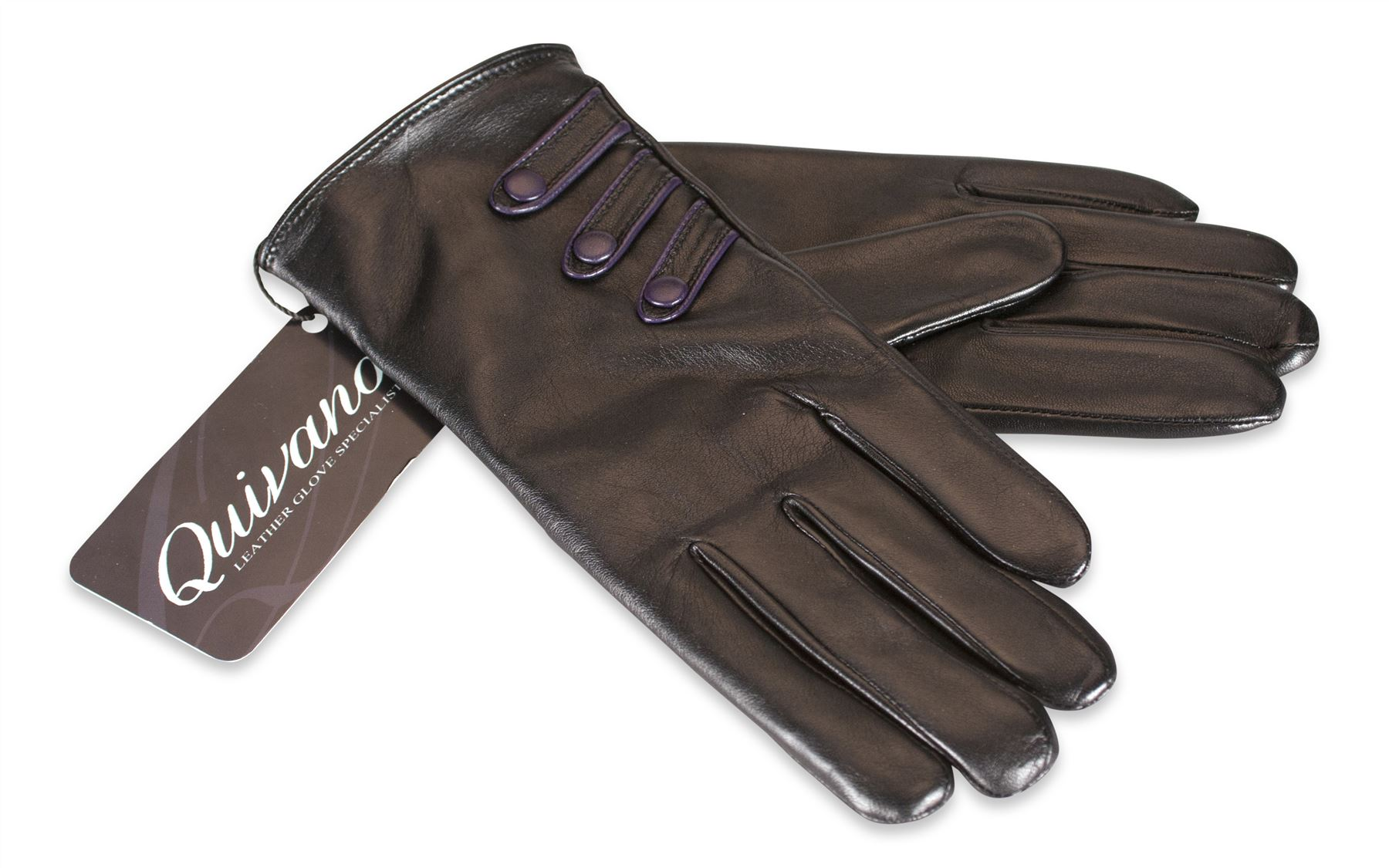 Ladies real leather gloves - Quivano Ladies Genuine Leather Gloves Fleece Lined 3