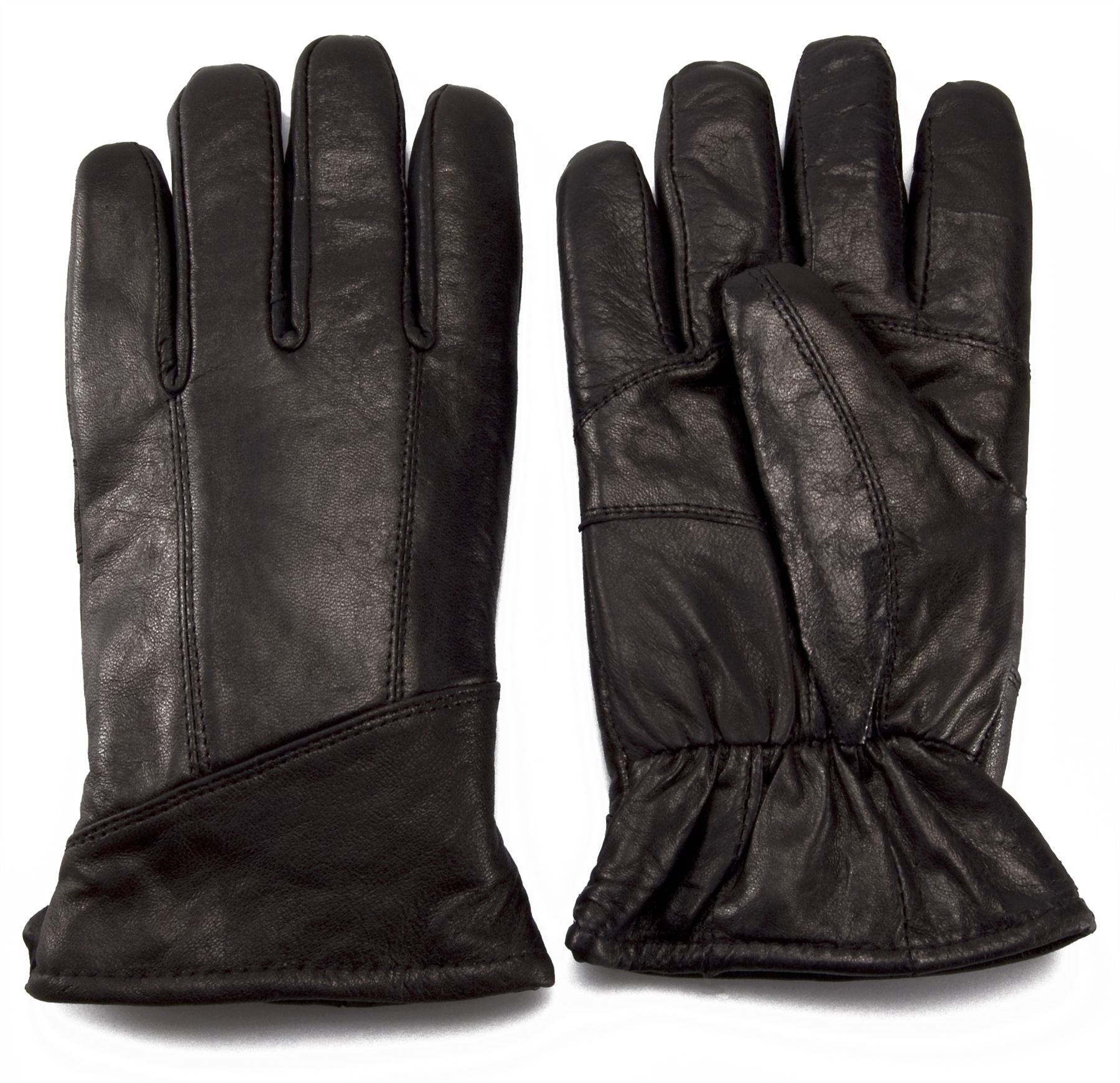 Mens leather gloves black friday - Nordvek Mens Sheepskin Lined Black Real Leather Gloves