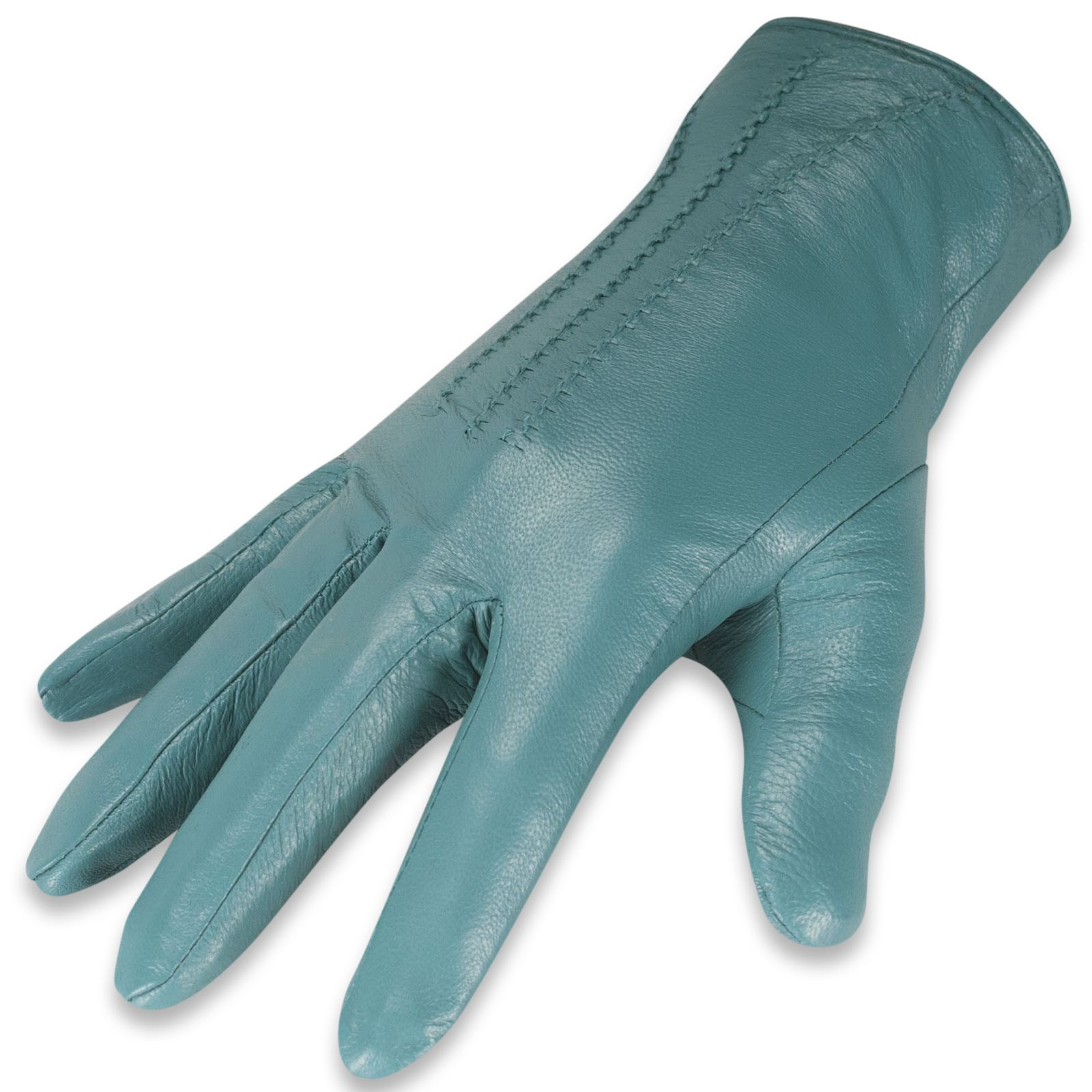 Ladies coloured leather gloves - Quivano Womens Soft Real Leather Gloves Three Line