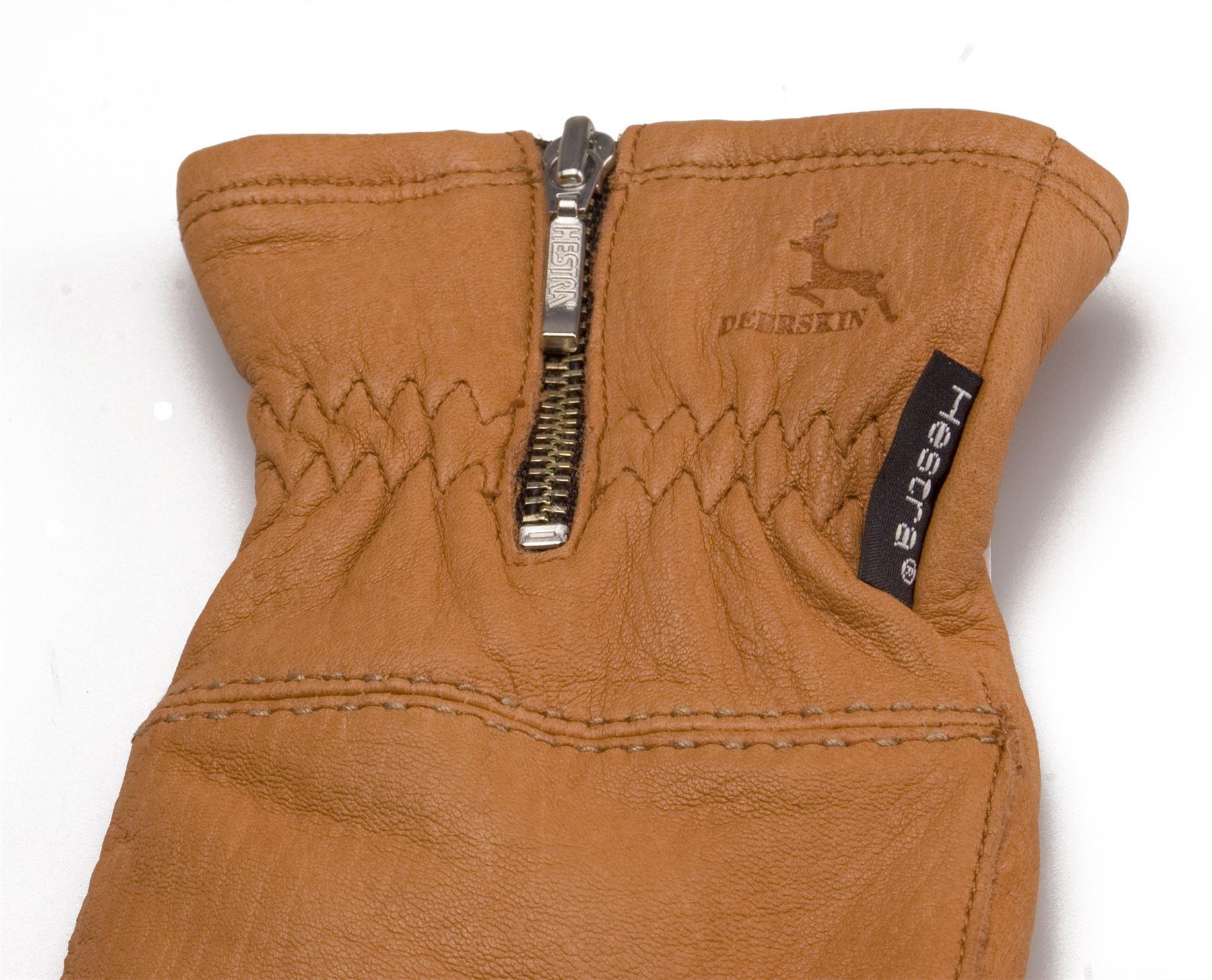 Ladies leather gloves wool lined - Hestra Ladies Real Deerskin Leather Gloves Merino Wool Lined Womens 1029