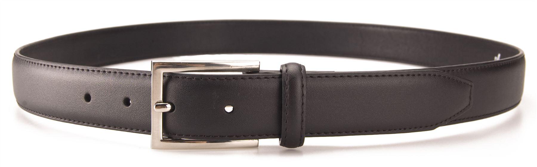 Mens-Real-Leather-Suit-Trouser-Belt-Silver-Buckle-Genuine-Ashford-Ridge-5401