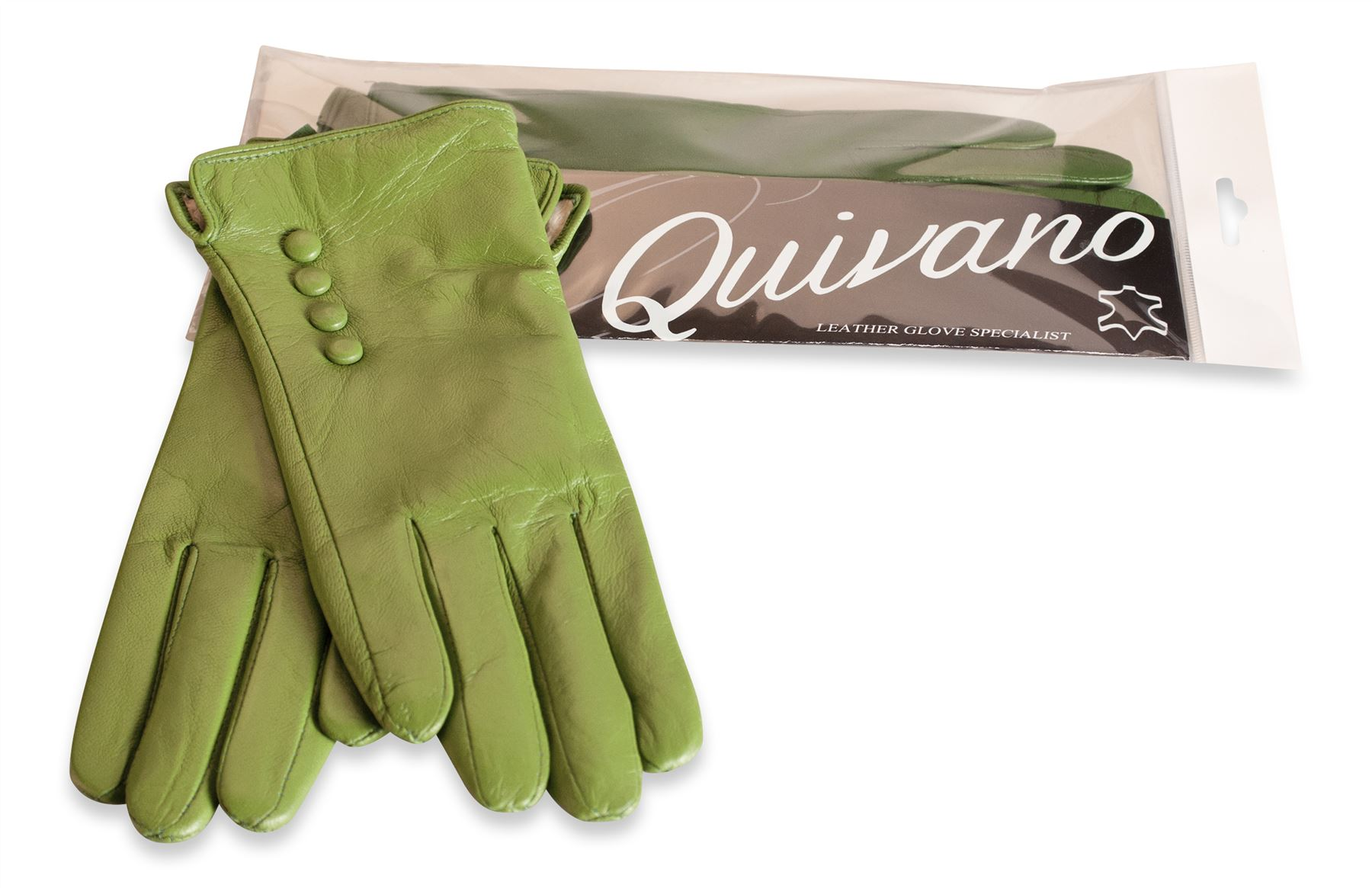Ladies real leather gloves - Quivano Ladies Soft Real Leather Gloves Four Button