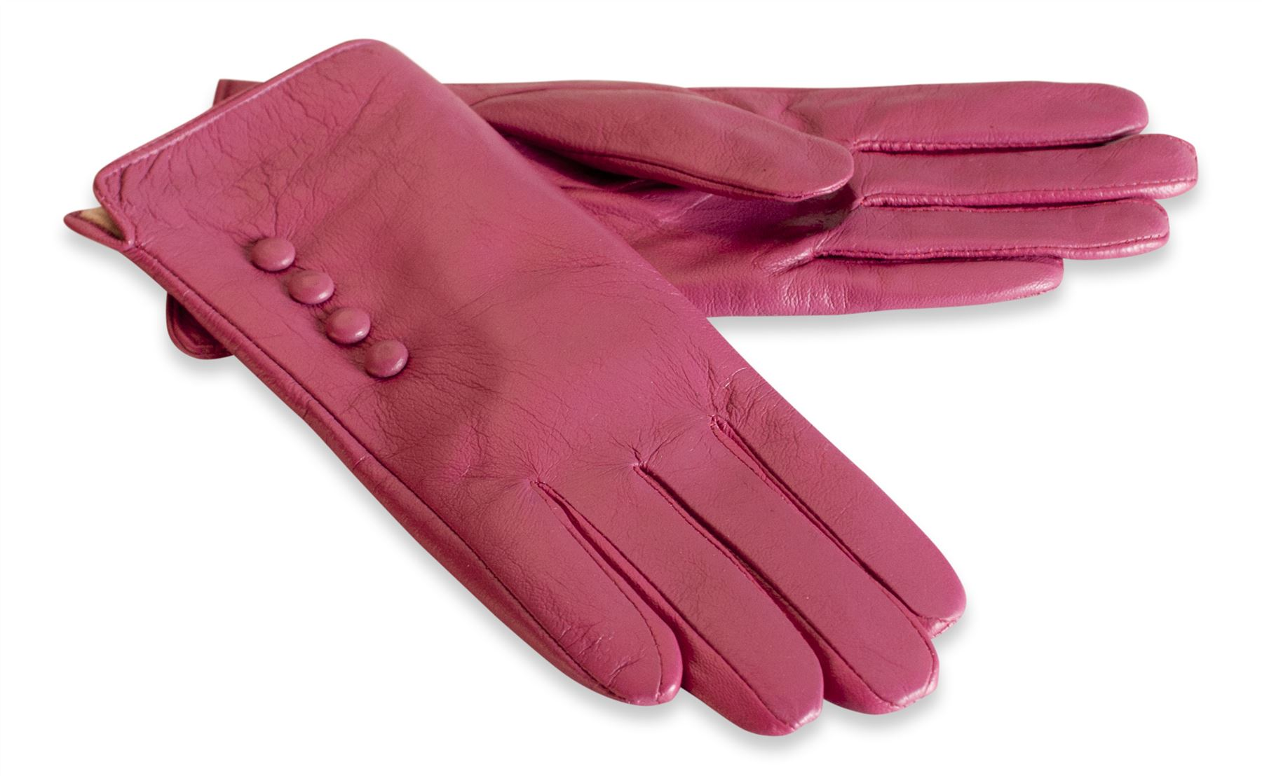 Womens leather gloves purple - Quivano Womens Soft Real Leather Gloves Four Button