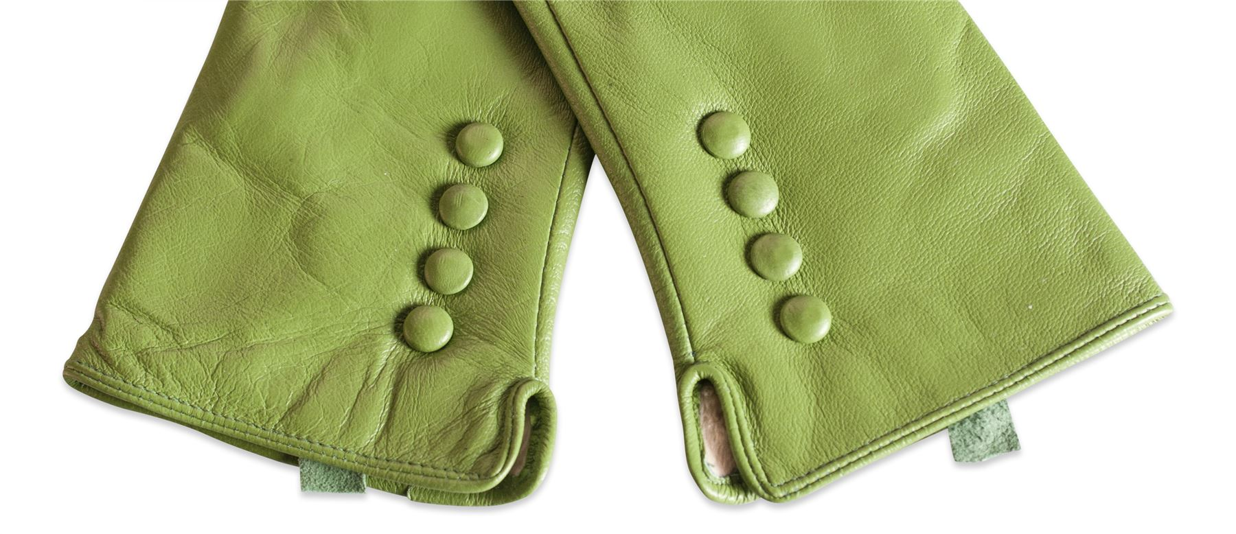 Womens leather gloves green - Quivano Womens Soft Real Leather Gloves Four Button