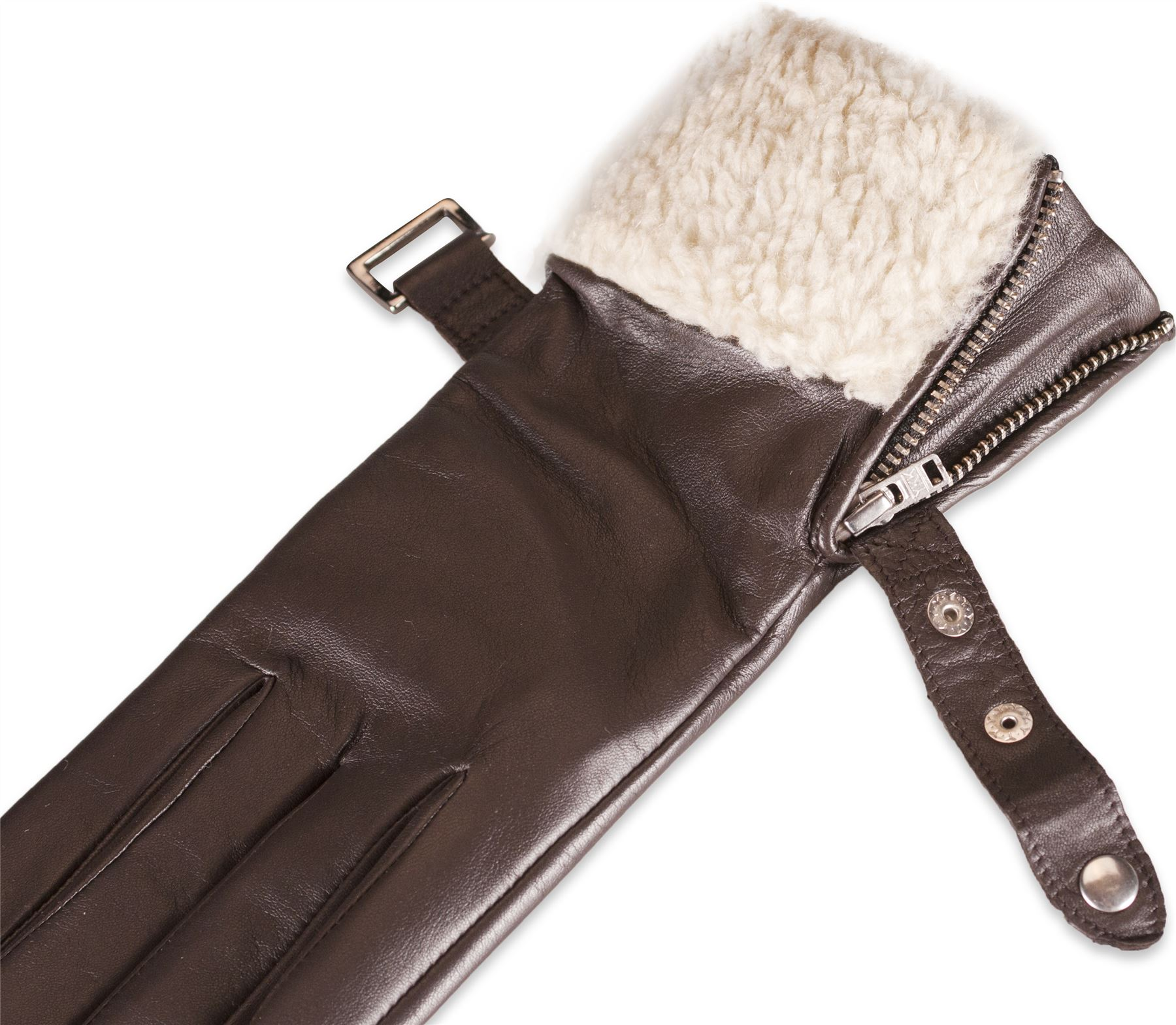 Quivano womens real leather gloves faux sheepskin fur cuff for What is faux leather to real leather