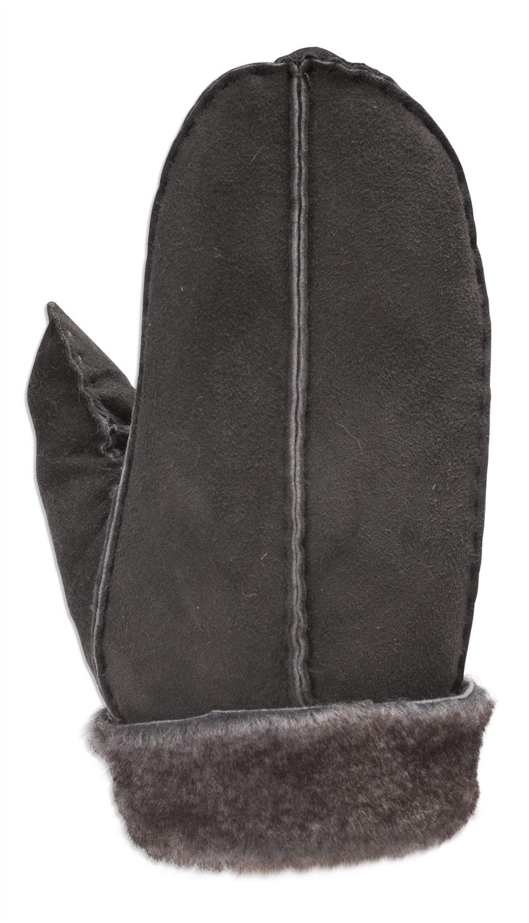 Childrens black leather gloves - Nordvek 3 8 Years Childrens Real Sheepskin Mittens