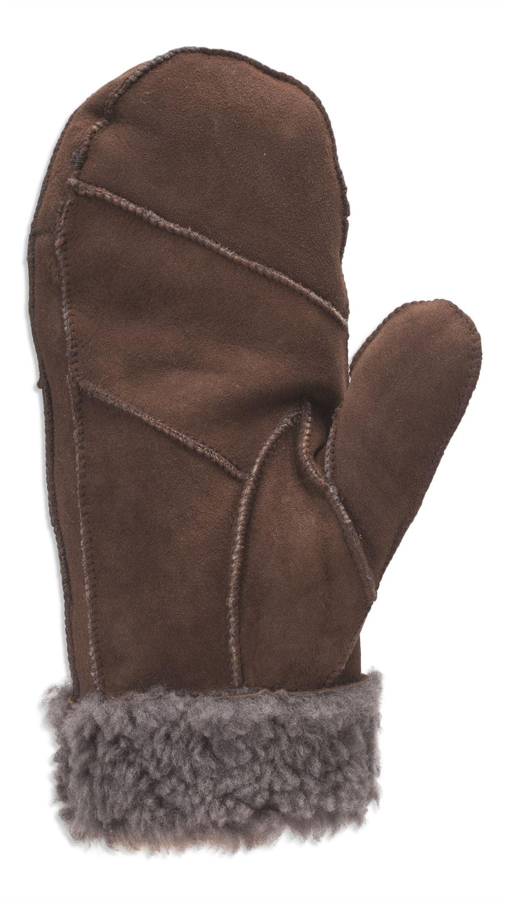 Nordvek Womens Real Sheepskin Mittens Gloves Fur Trim ...