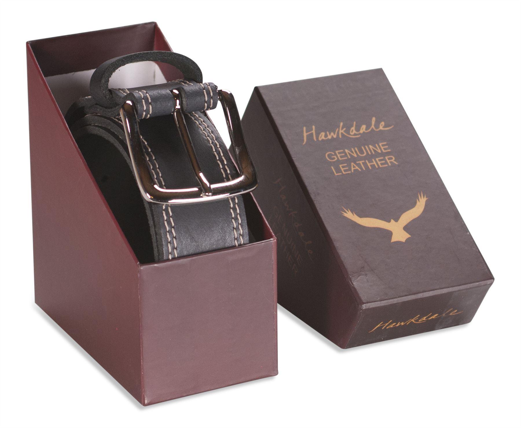 hawkdale mens real leather belt 1 5 width genuine