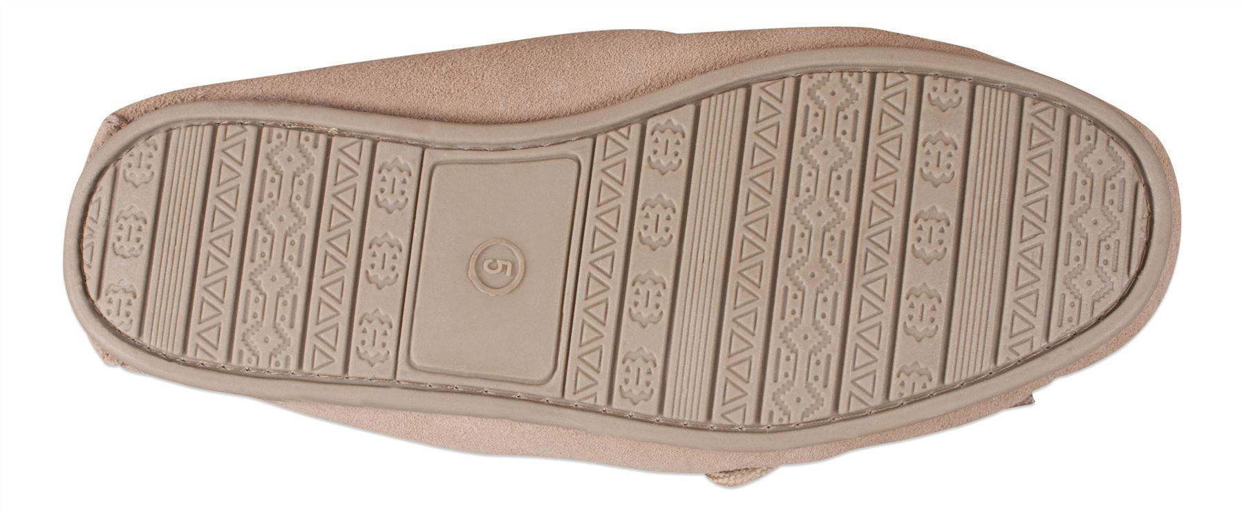 Nordvek-donna-in-tessuto-foderato-Pelle-Di-Pecora-Pantofole-Mocassino-in-Pelle-scamosciata-suola
