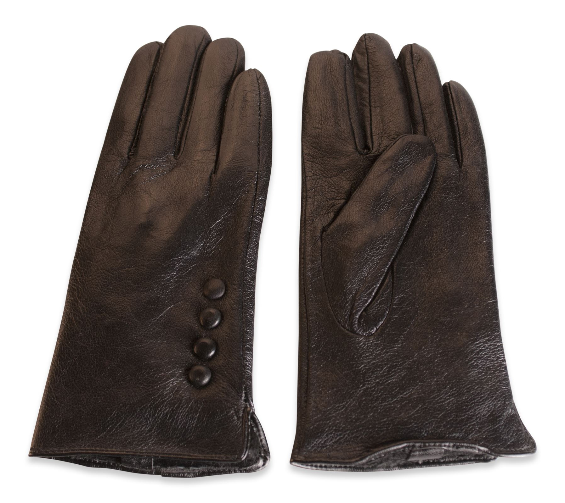 Ebay uk leather work gloves - Quivano Womens Soft Real Leather Gloves Four Button