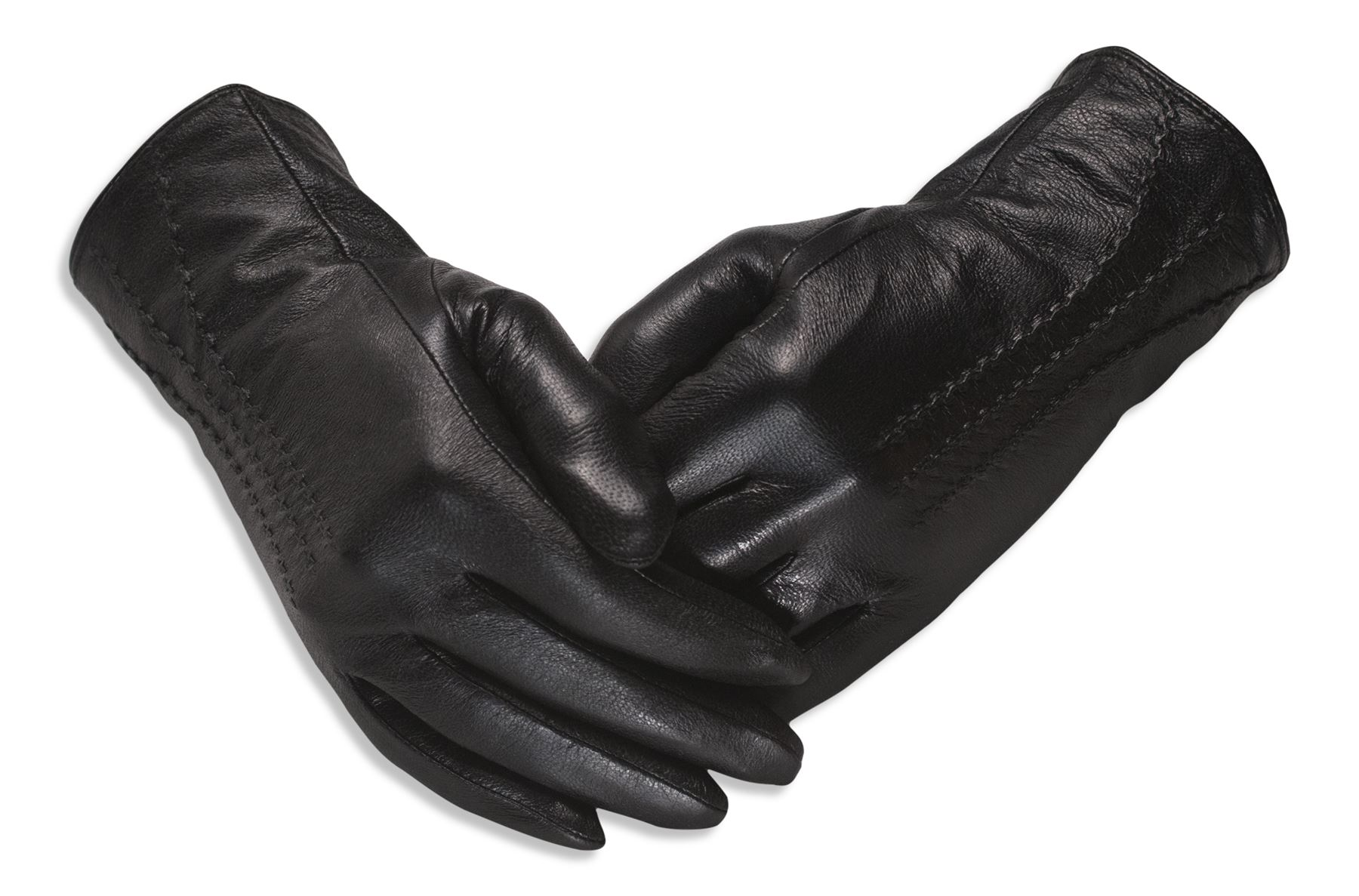 Ladies real leather gloves - Quivano Ladies Soft Real Leather Gloves Three Line
