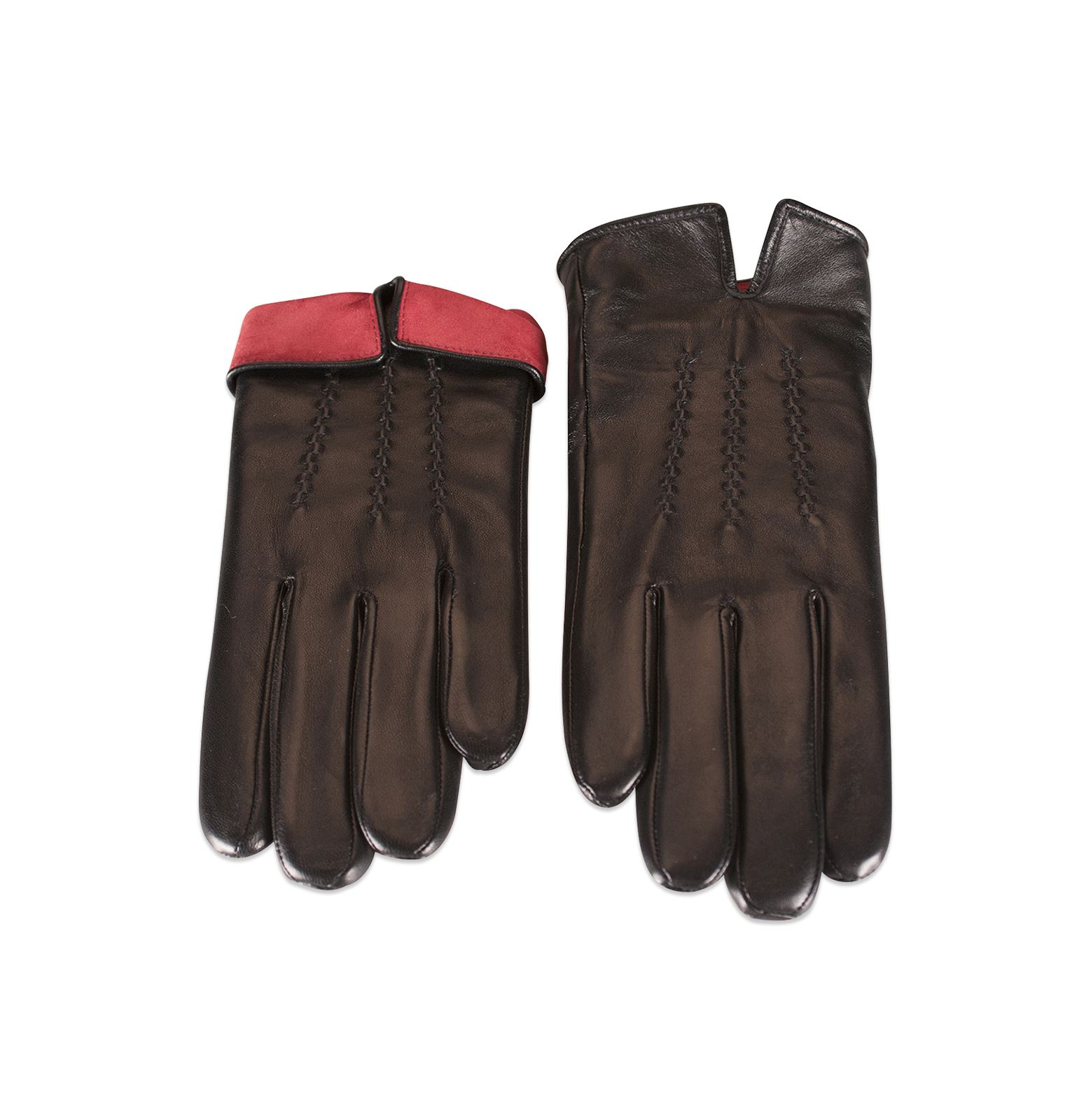 Ladies real leather gloves - Quivano Ladies Real Leather Gloves Fleece Lined Turn