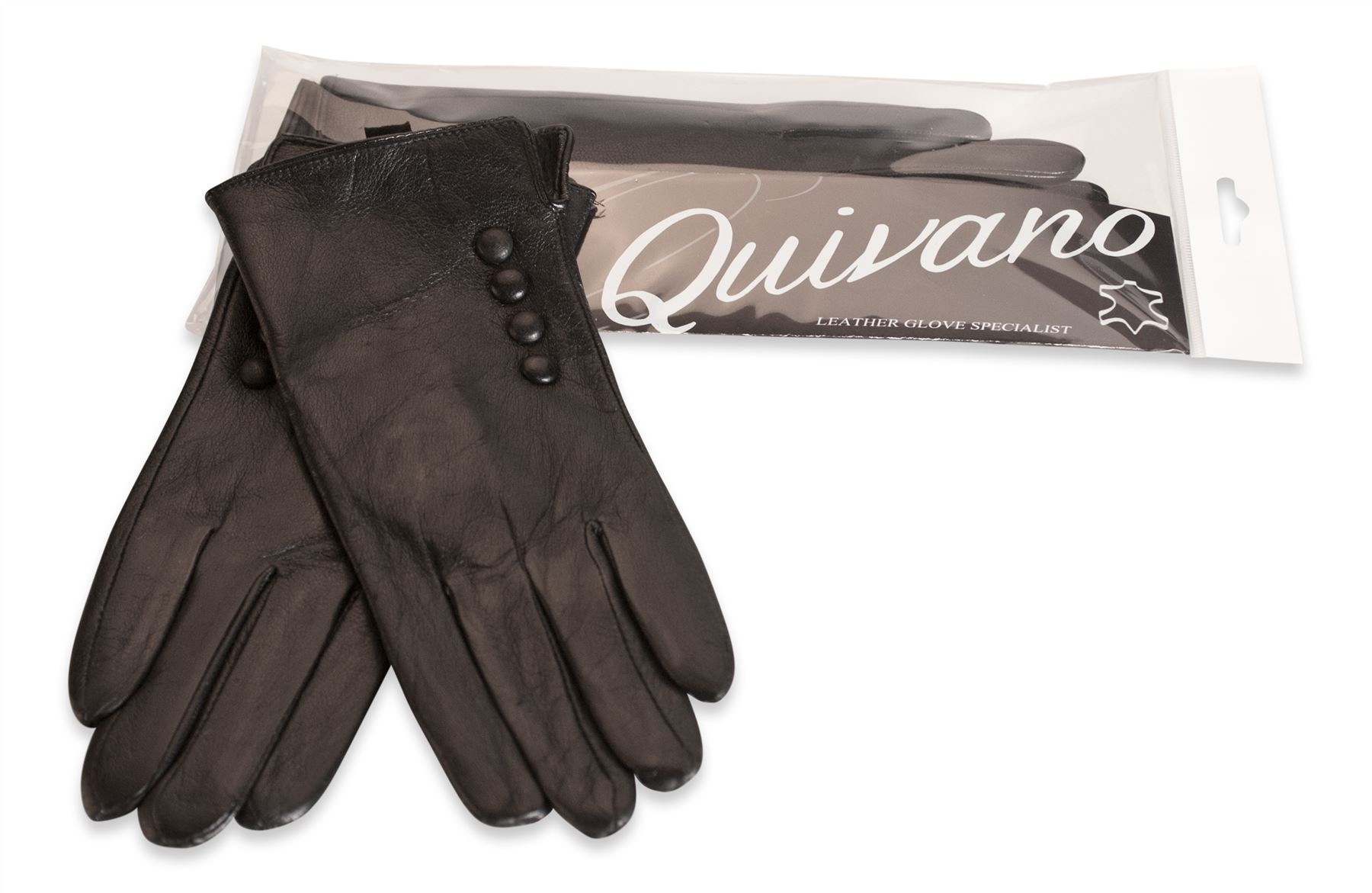 Ladies leather gloves large - Quivano Womens Soft Real Leather Gloves Four Button