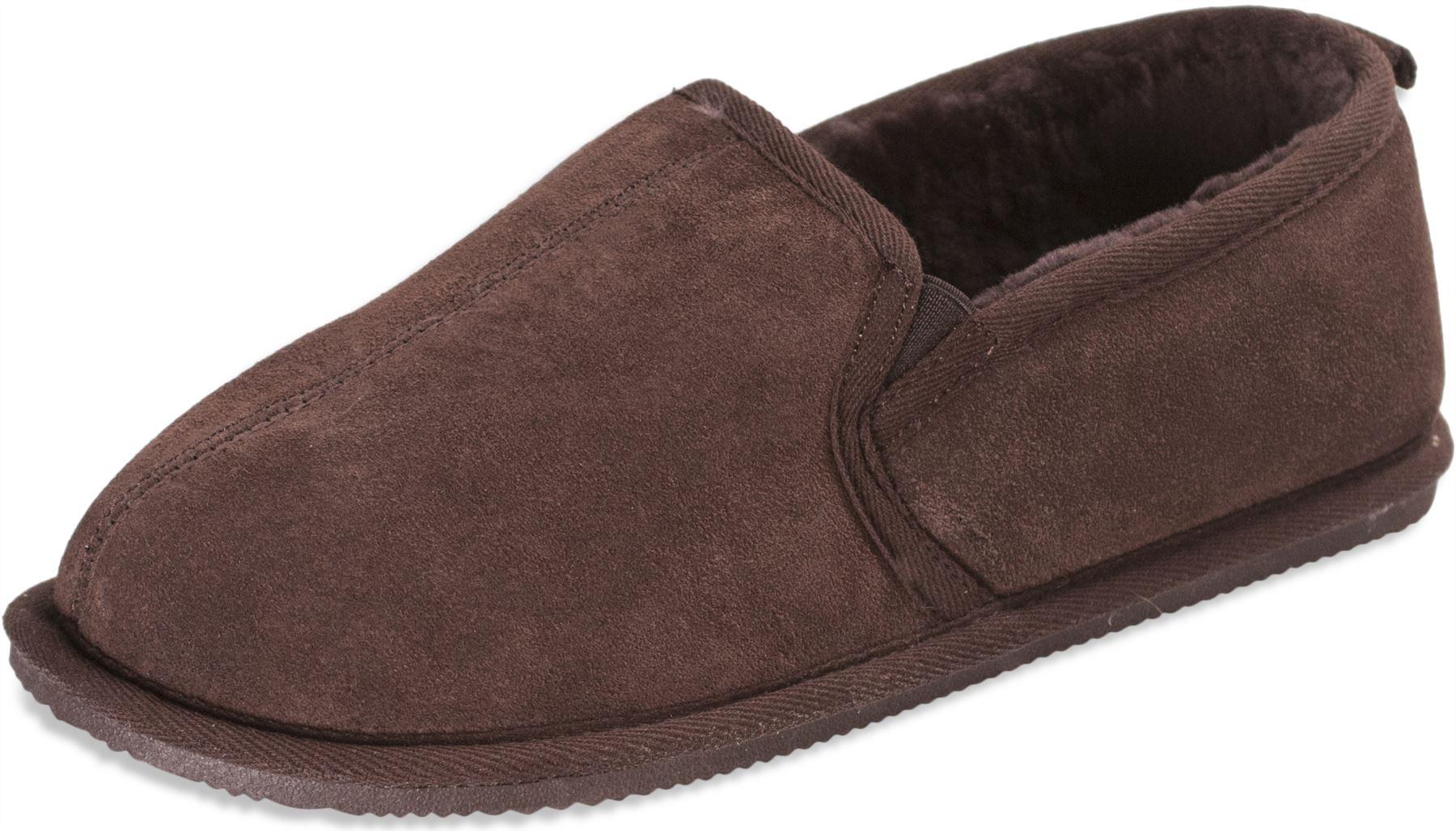 Nordvek-Mens-Genuine-Sheepskin-Slippers-Suede-amp-Hard-