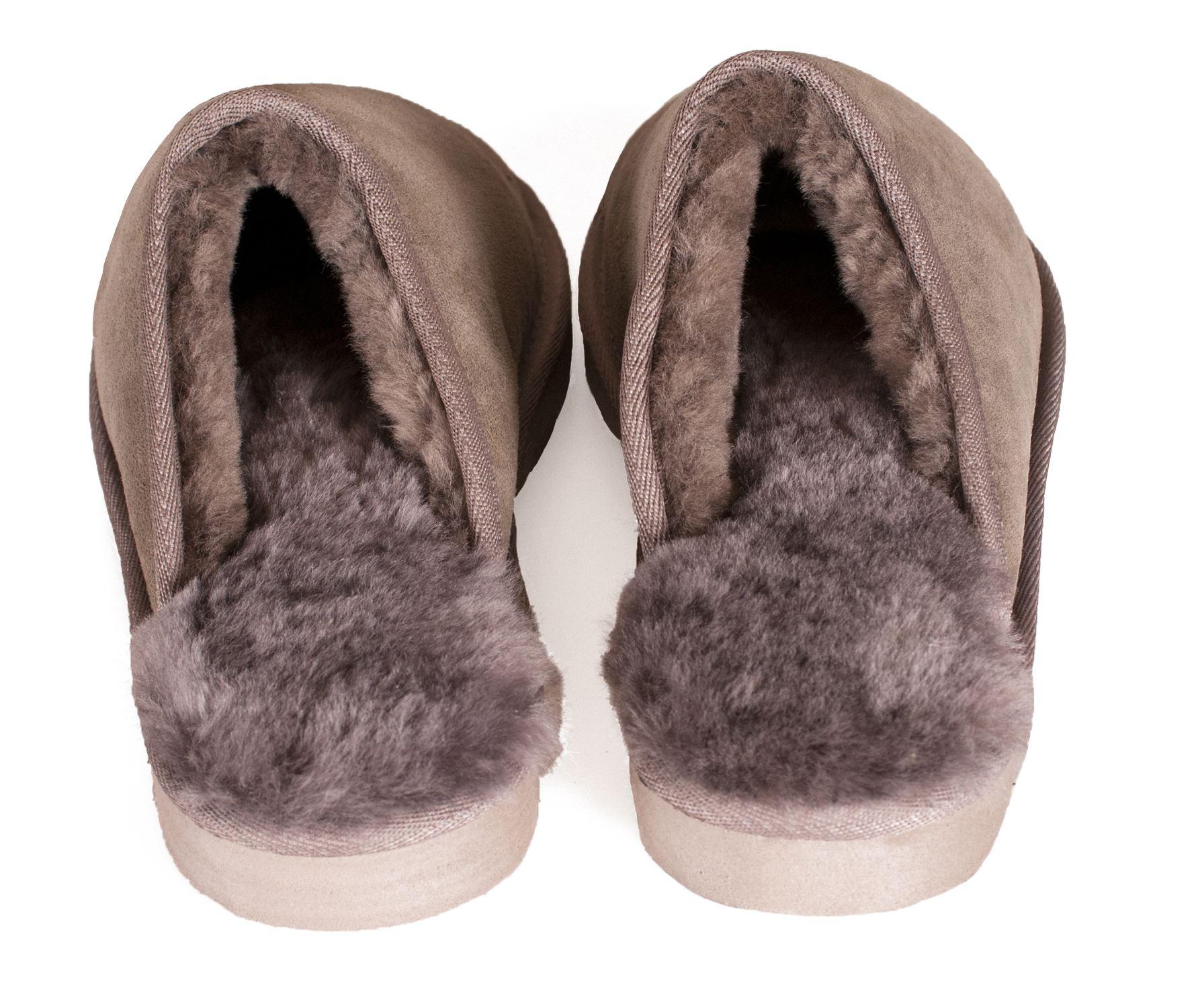 nordvek damen echt lammfell hausschuhe pantolet rutschsicher harte sohlen damen ebay. Black Bedroom Furniture Sets. Home Design Ideas