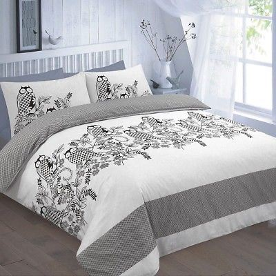 white queen set encourage printed adult intended comforter twin ideas full sets bedding in black and owl cotton size cover for duvet king