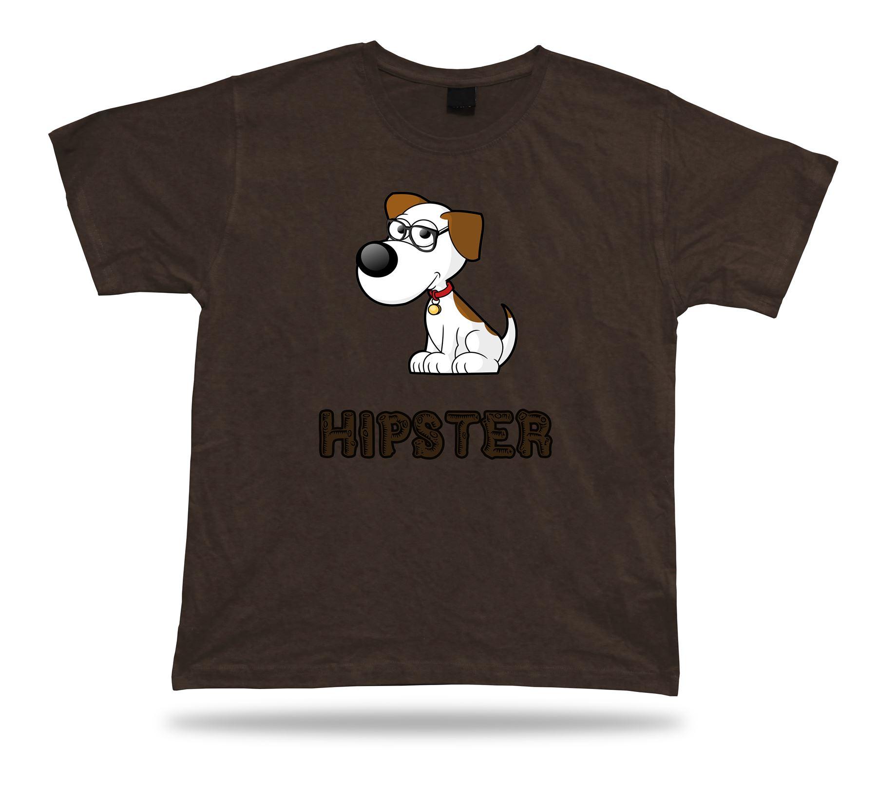 Nerdy Tee Cool Geek Dog T Shirt Funny Modern Fashion Smart