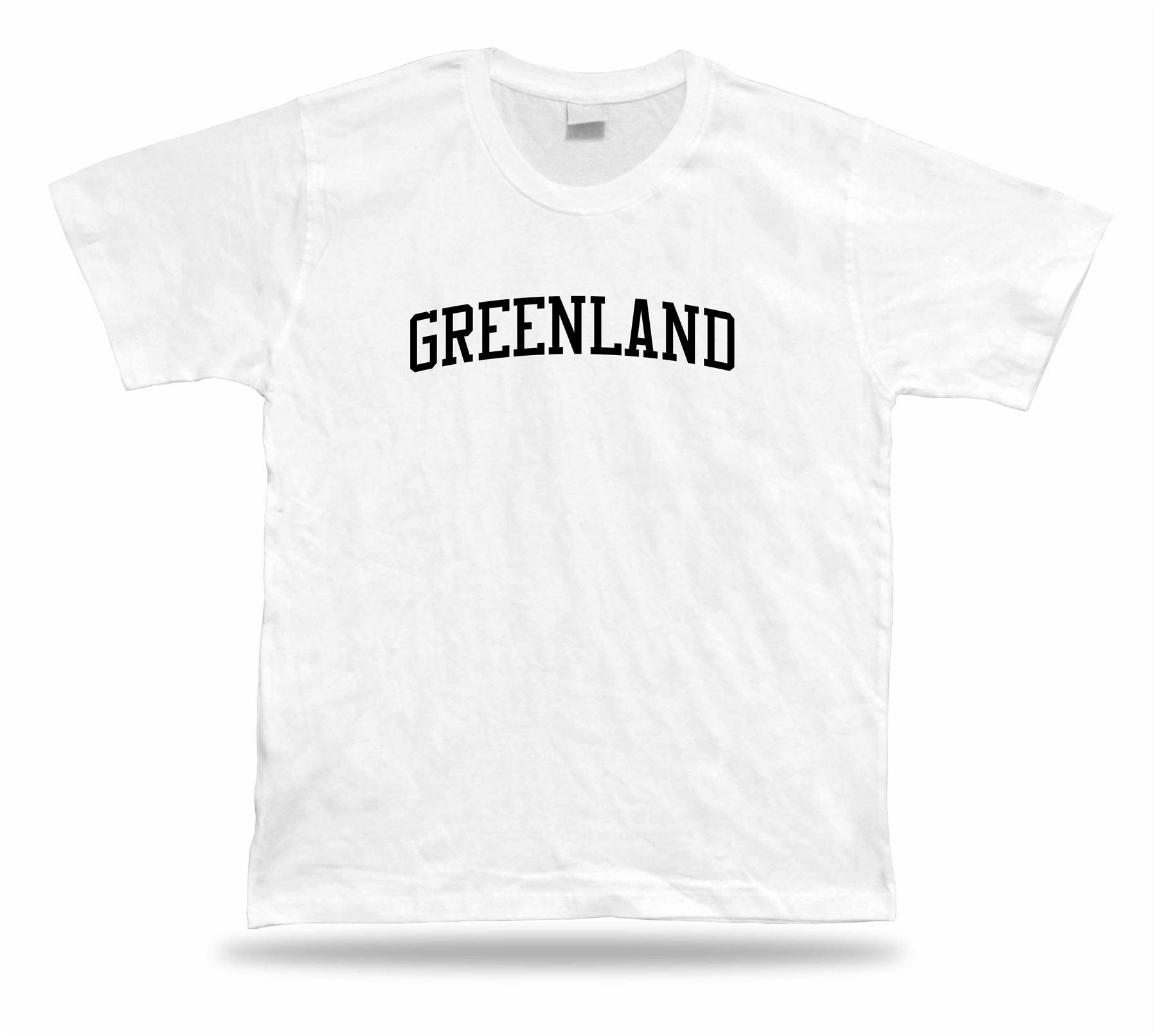T-shirt Stylish Greenland Tee Gift Idea Modern Fashion Sport North ... fbd69562d