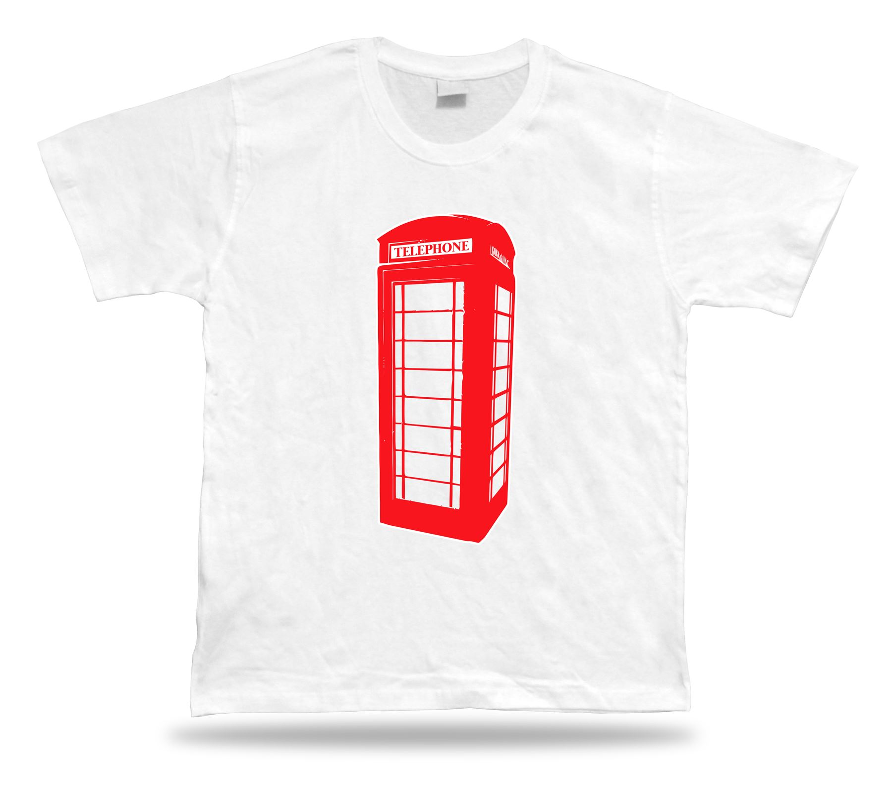 Red London Phonebooth Vintage Retro Mobile Funny Joke Style T Shirt ... 83156dd0a